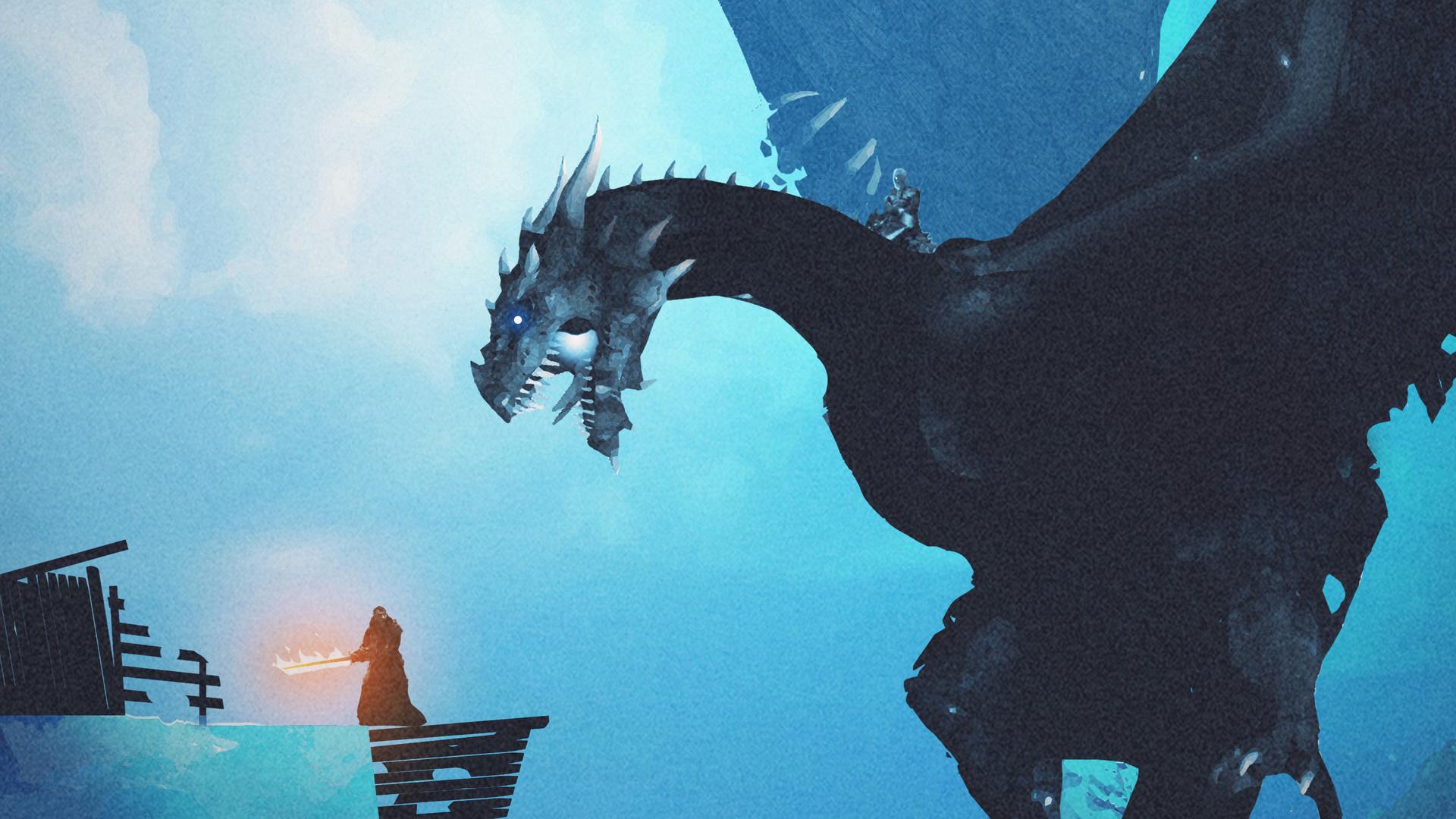 Fantastic Wallpaper Night Dragon - night-king-dragon-vs-lord-of-light-eb-1920x1080  2018.jpg