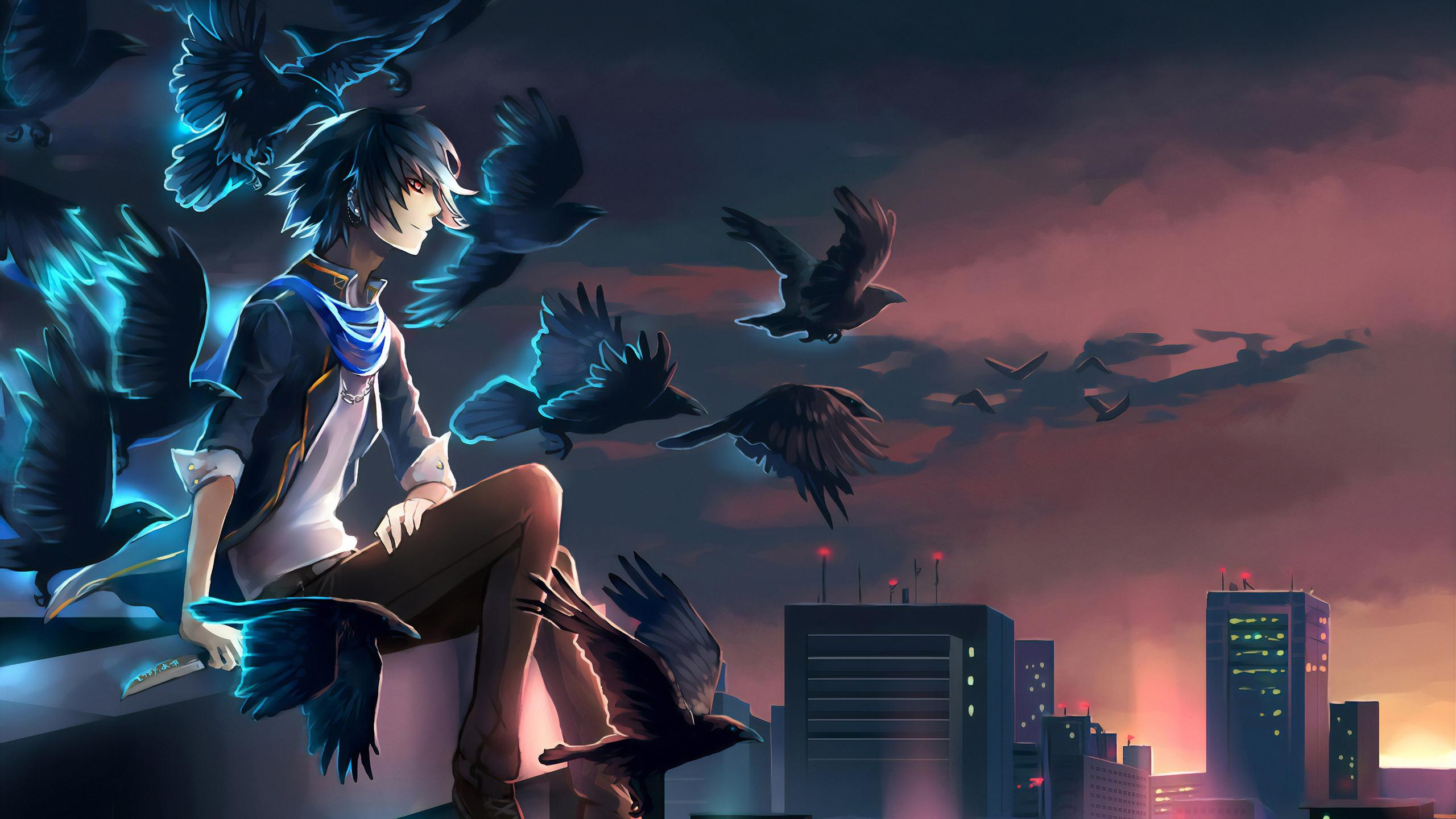 2560x1440 Night Lights Anime 1440P Resolution HD 4k ...