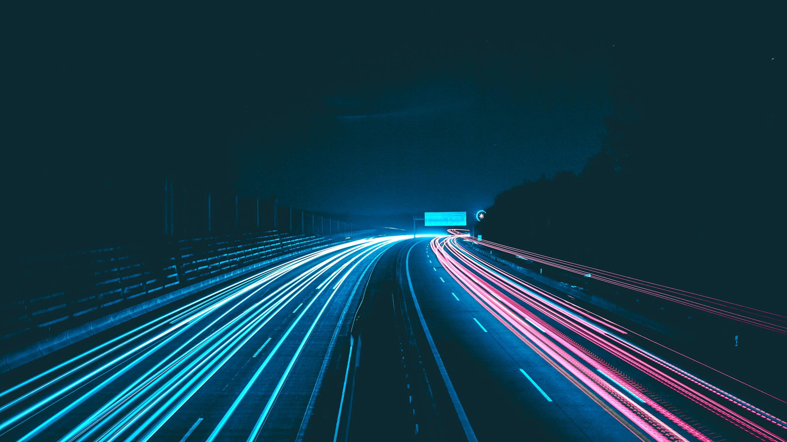 2560x1440 wallpaper road: 2560x1440 Night Lights Road 1440P Resolution HD 4k