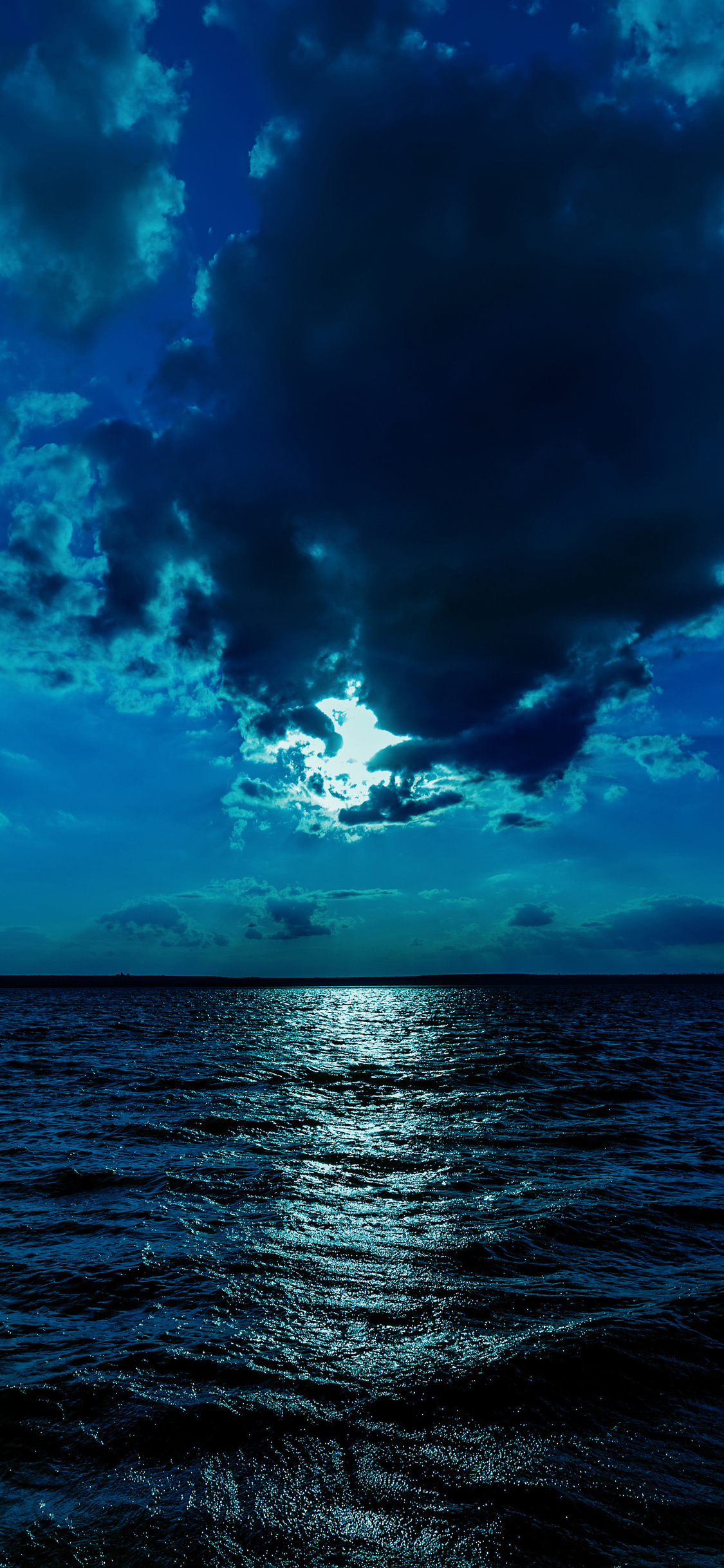 1125x2436 Night Moon Sea Sky Blue 4k Iphone Xs Iphone 10 Iphone X Hd 4k Wallpapers Images Backgrounds Photos And Pictures