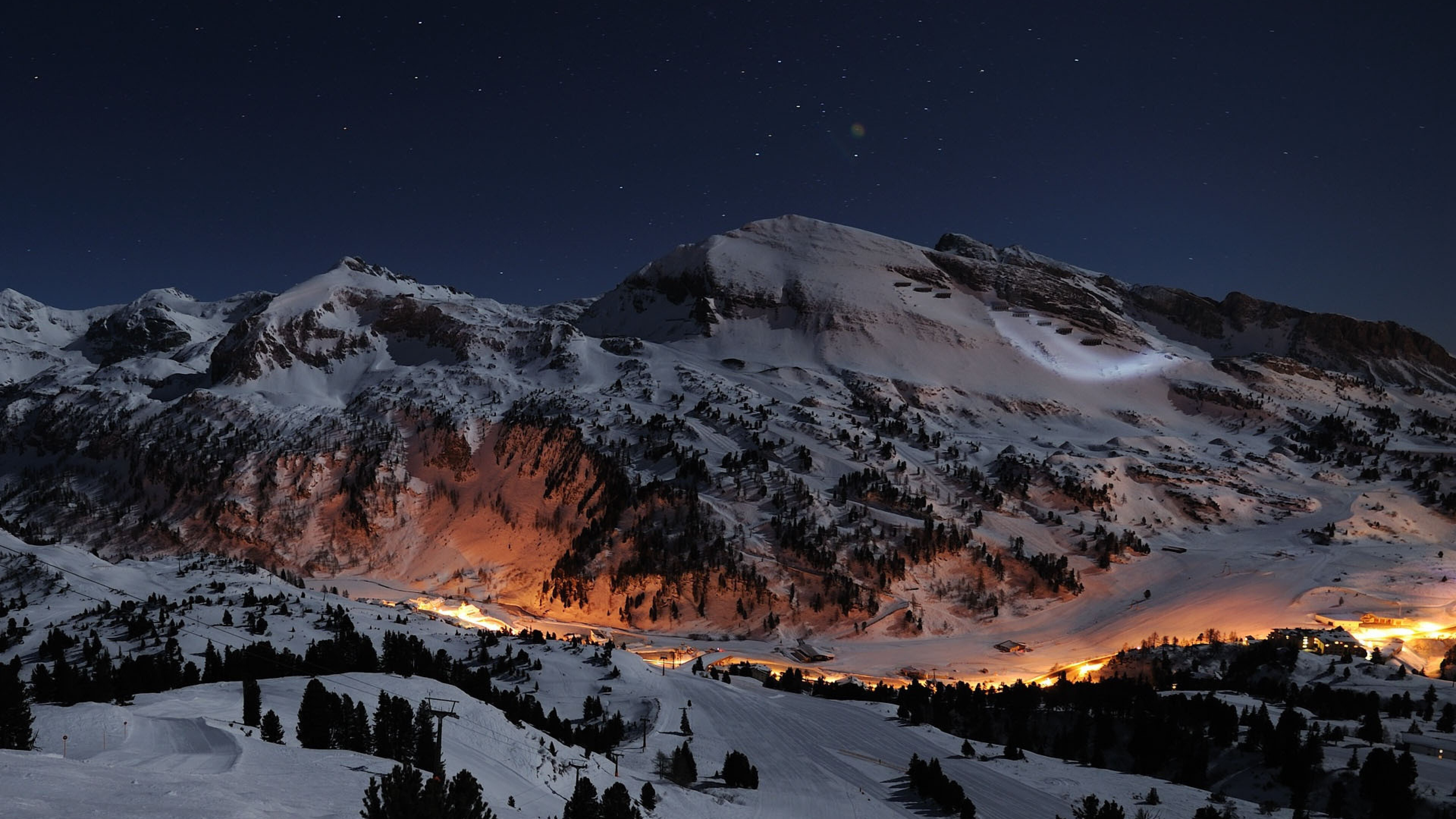 3840x2160 Night Star Alps 4k HD 4k Wallpapers, Images ...