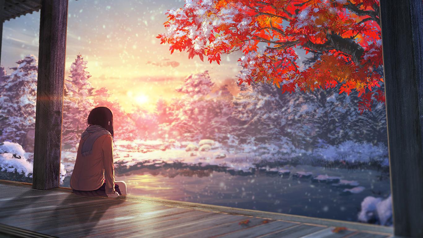 1366x768 nightcore anime girl 1366x768 resolution hd 4k - Anime background wallpaper 4k ...