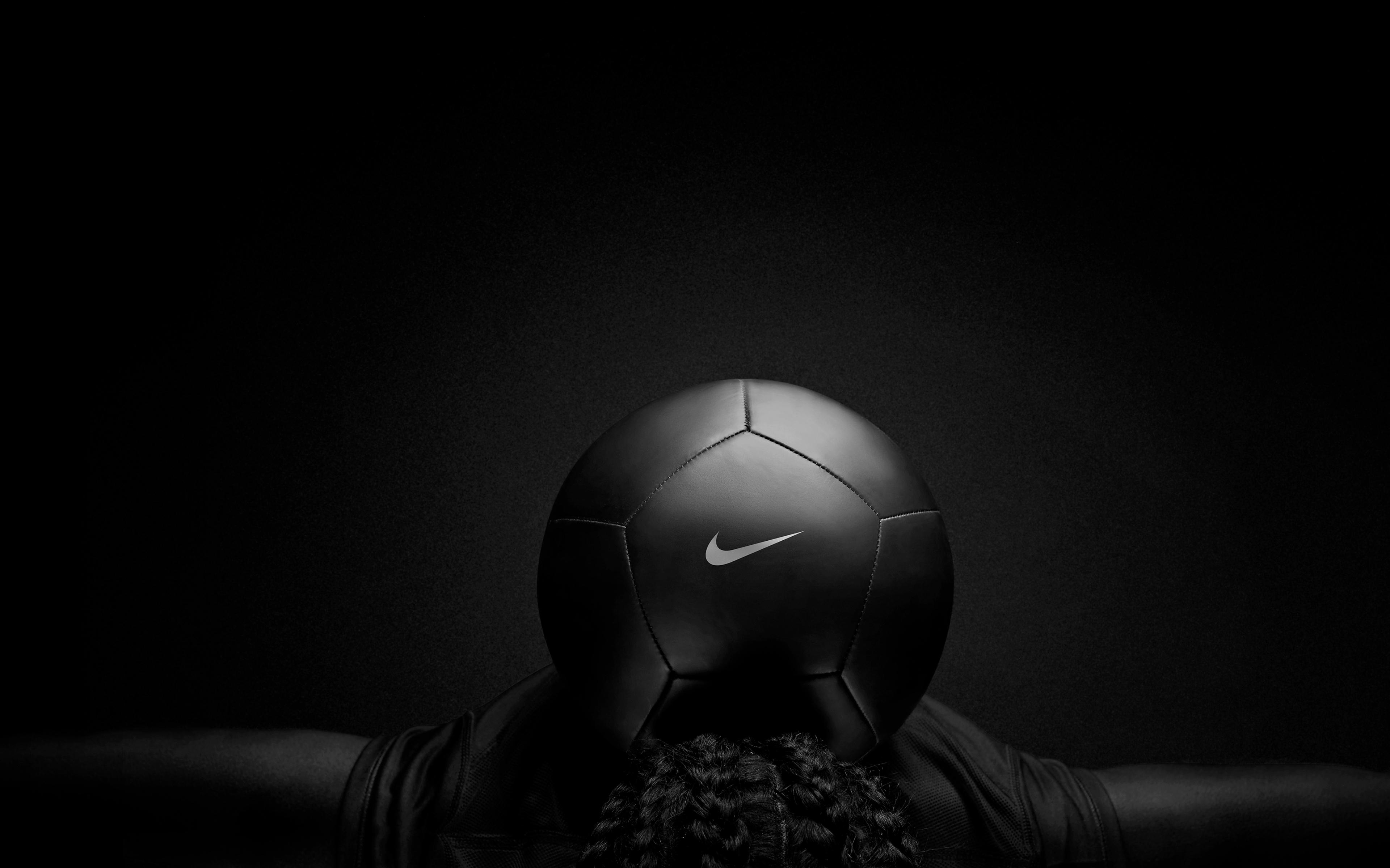 3840x2400 Nike Black Play Football 4k HD 4k Wallpapers ...