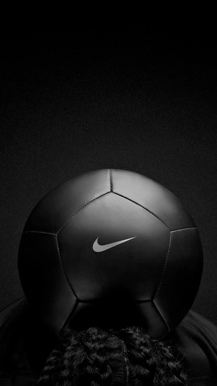 750x1334 Nike Black Play Football iPhone 6, iPhone 6S, iPhone 7 HD