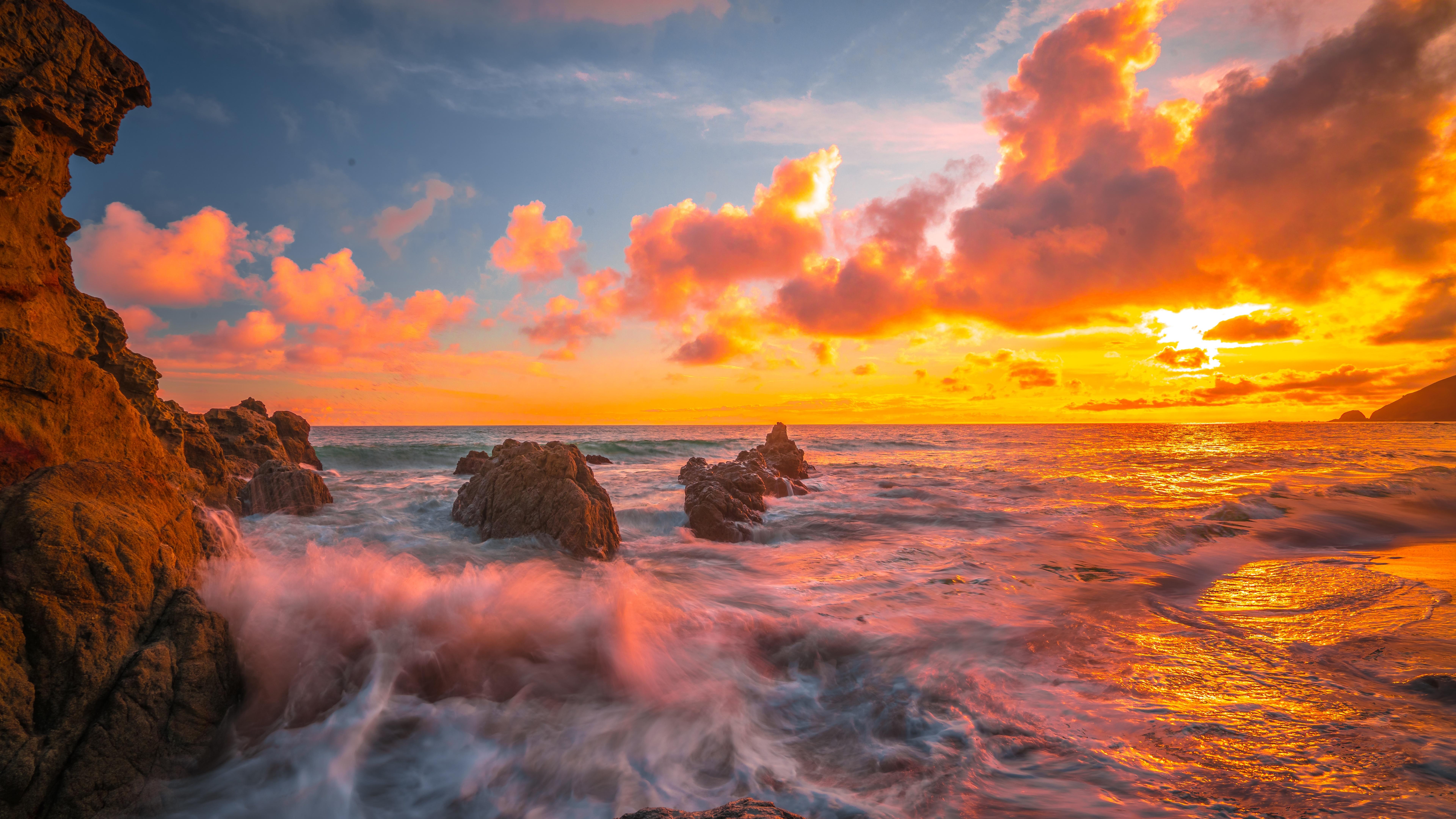 7680x4320 Ocean Sunset 8k 8k HD 4k Wallpapers, Images