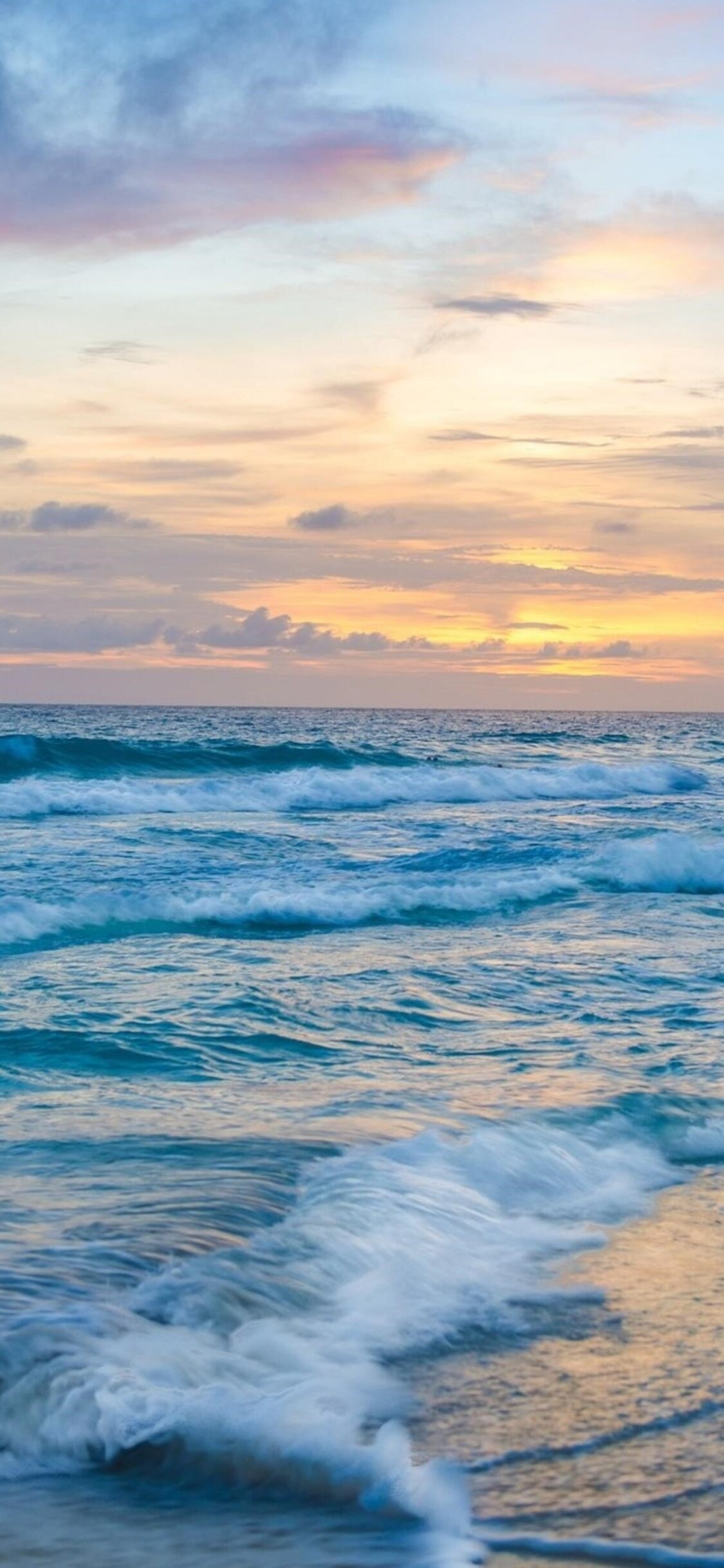 1125x2436 Ocean Waves At Sunset Iphone Xs Iphone 10 Iphone X Hd 4k