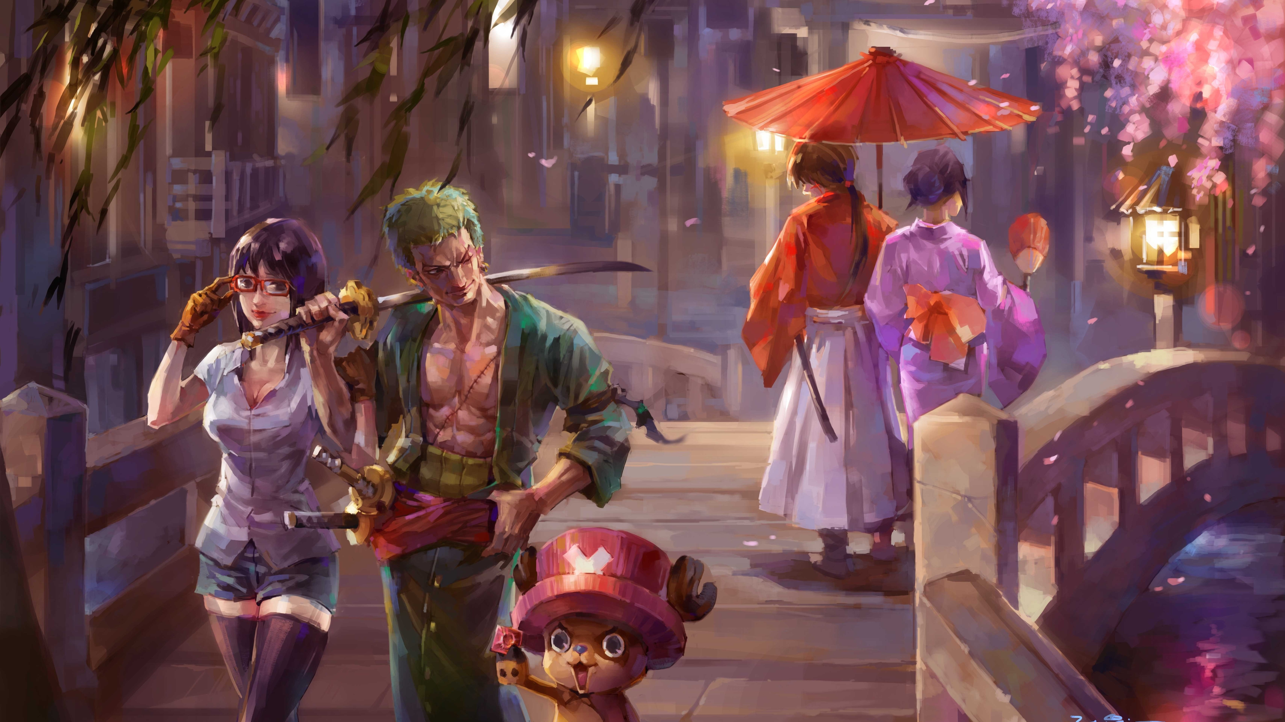 5120x2880 One Piece Painting 5k 5k Hd 4k Wallpapers Images