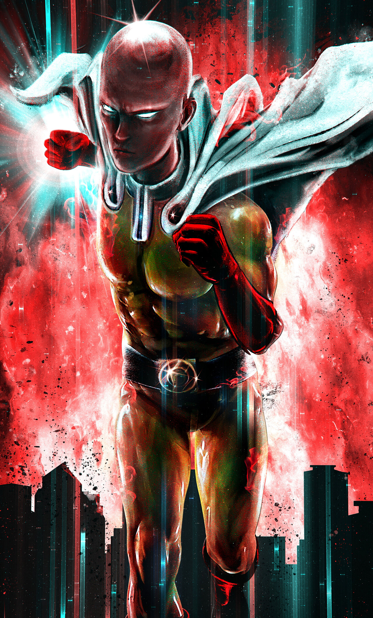 1280x2120 one punch man 8k iphone 6 hd 4k wallpapers - Funny one punch man wallpaper ...