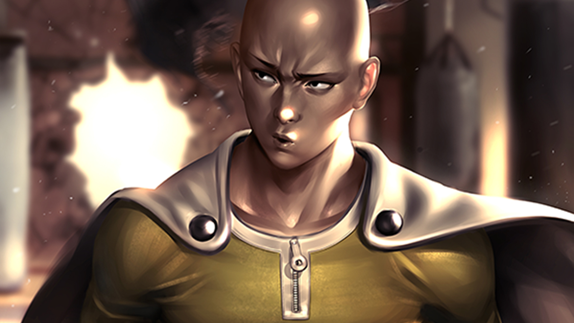 1920x1080 One Punch Man Artwork Laptop Full Hd 1080p Hd 4k