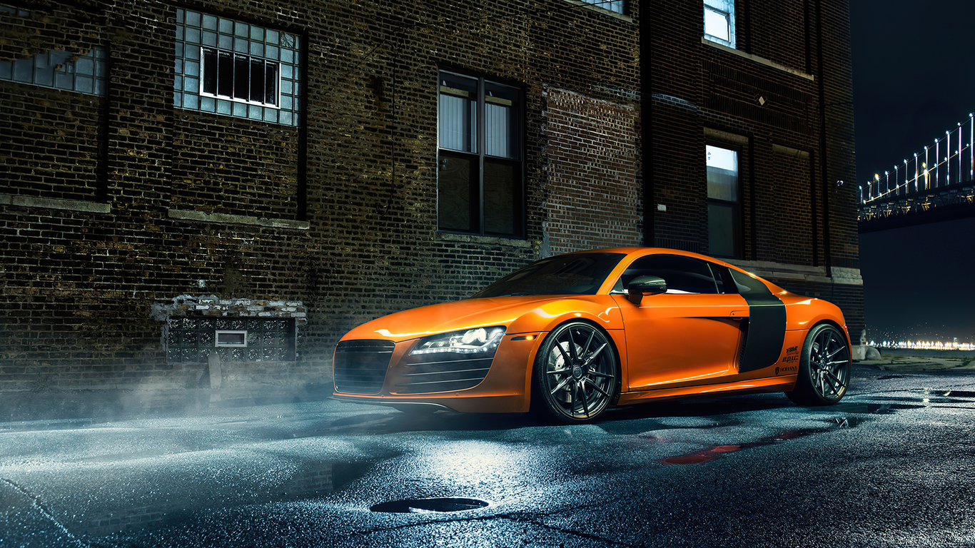 1366x768 Orange Audi R8 1366x768 Resolution Hd 4k Wallpapers Images Backgrounds Photos And Pictures