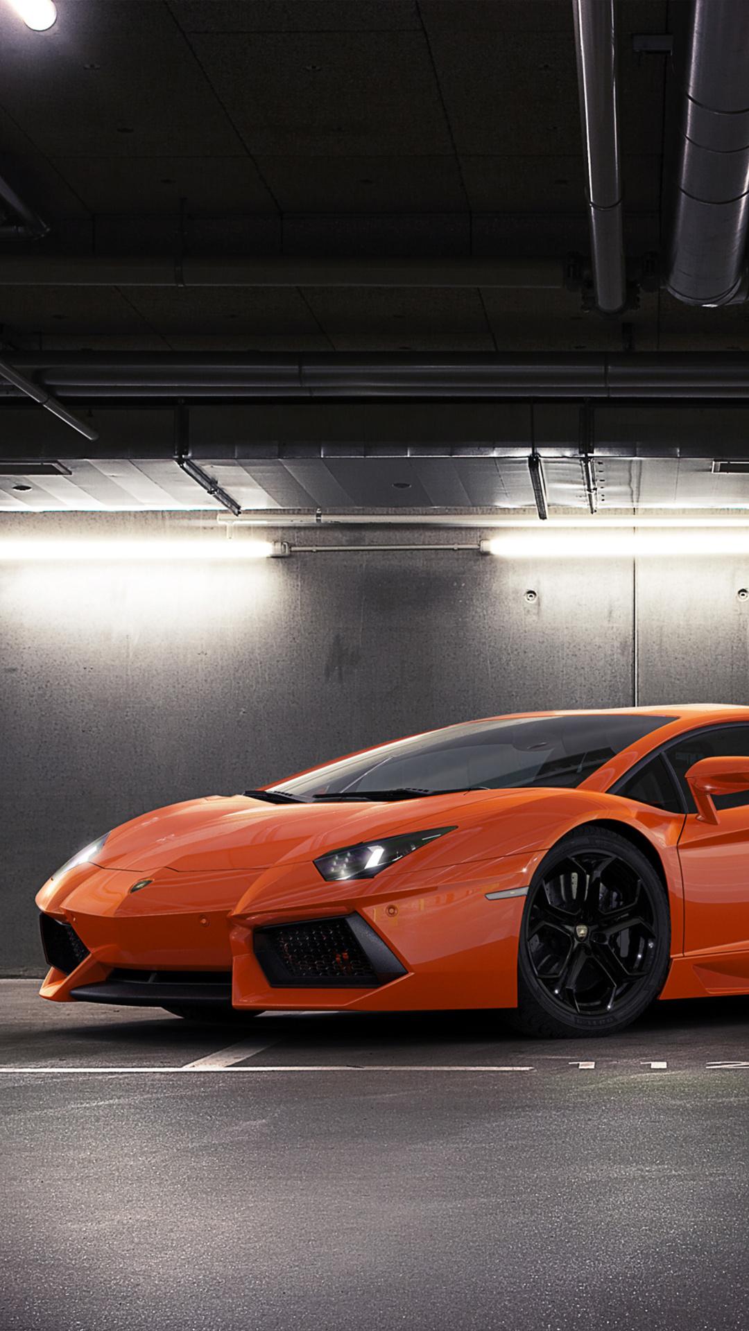 1080x1920 Orange Lamborghini Aventador 2018 Iphone 7 6s 6 Plus