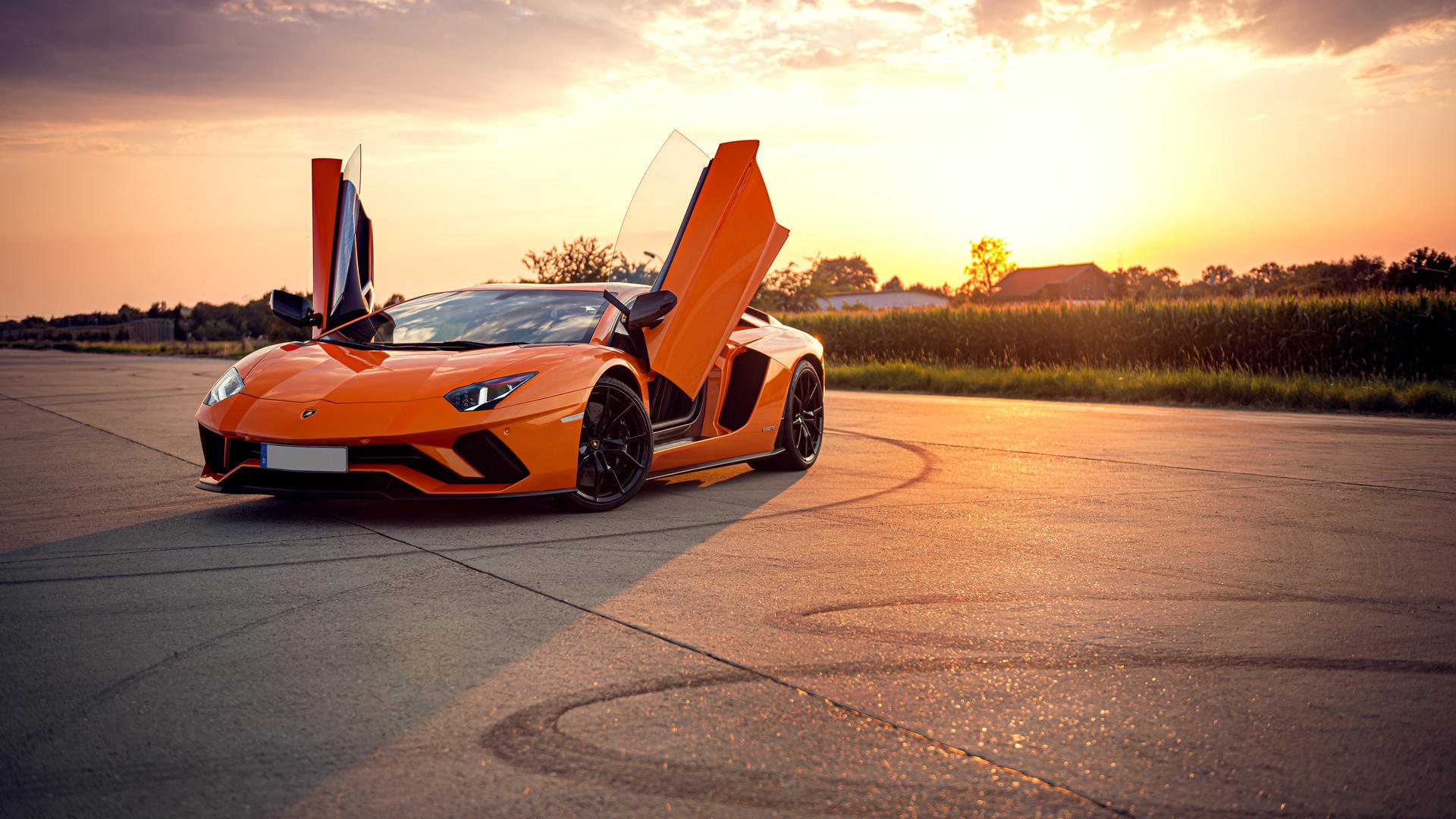 1920x1080 Orange Lamborghini Aventador 4k Laptop Full HD ...