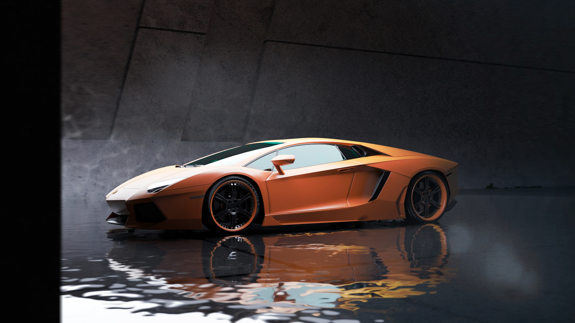 1920x1080 Orange Lamborghini Aventador Car Laptop Full HD ...