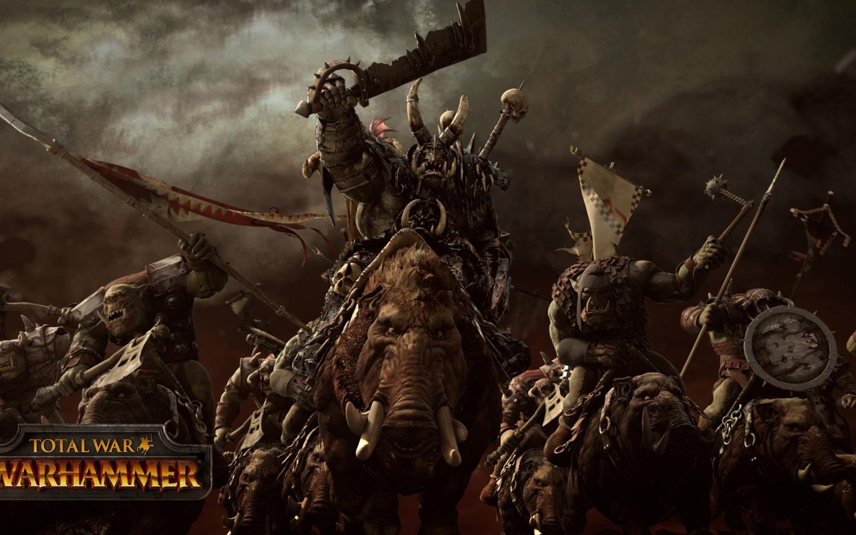 Total War Warhammer Wallpaper: 1680x1050 Orcs Total War Warhammer 1680x1050 Resolution HD