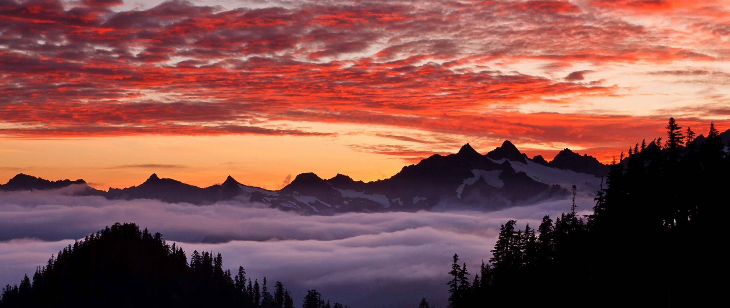 горы закат небо без смс
