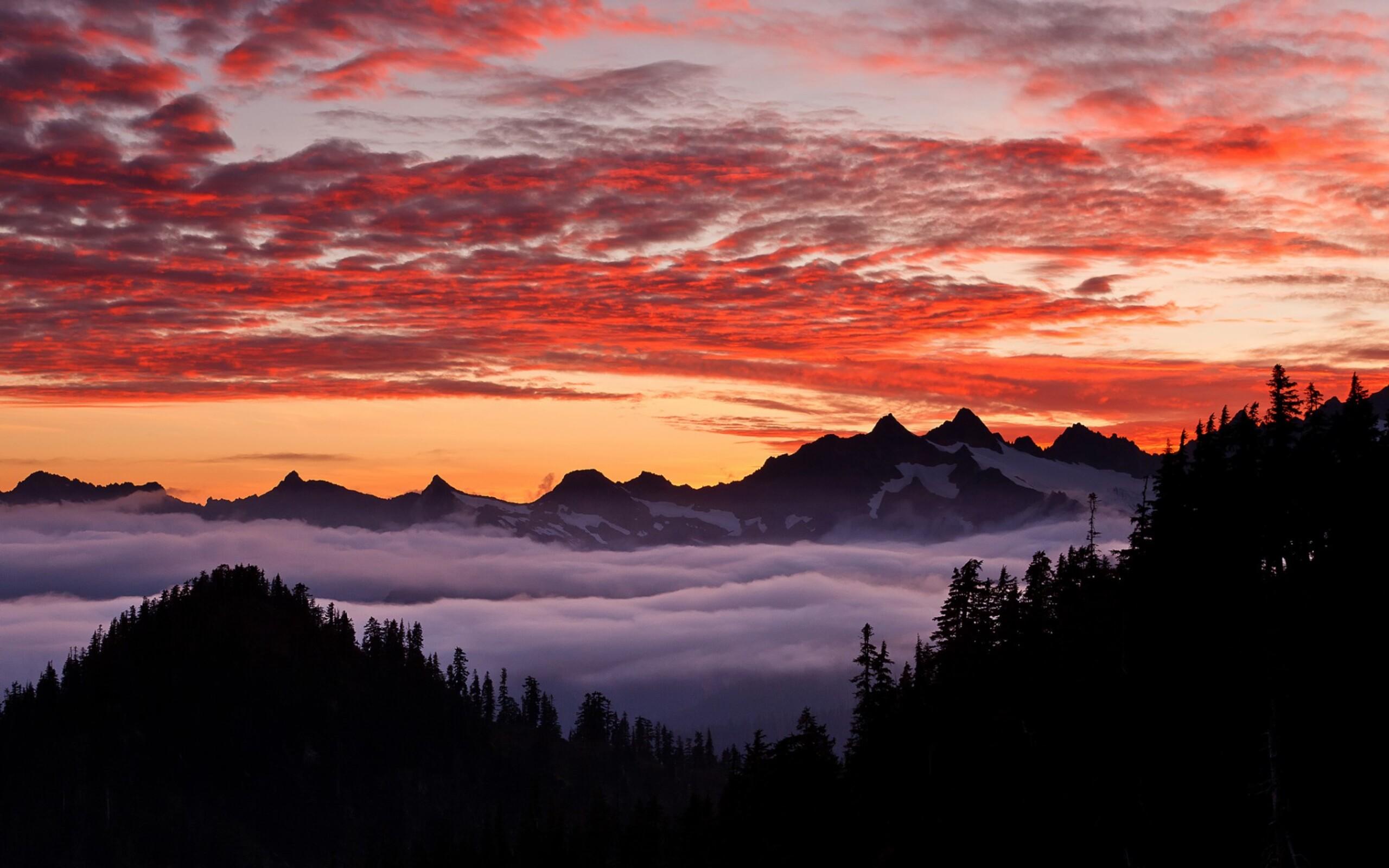 горы на рассвете скачать