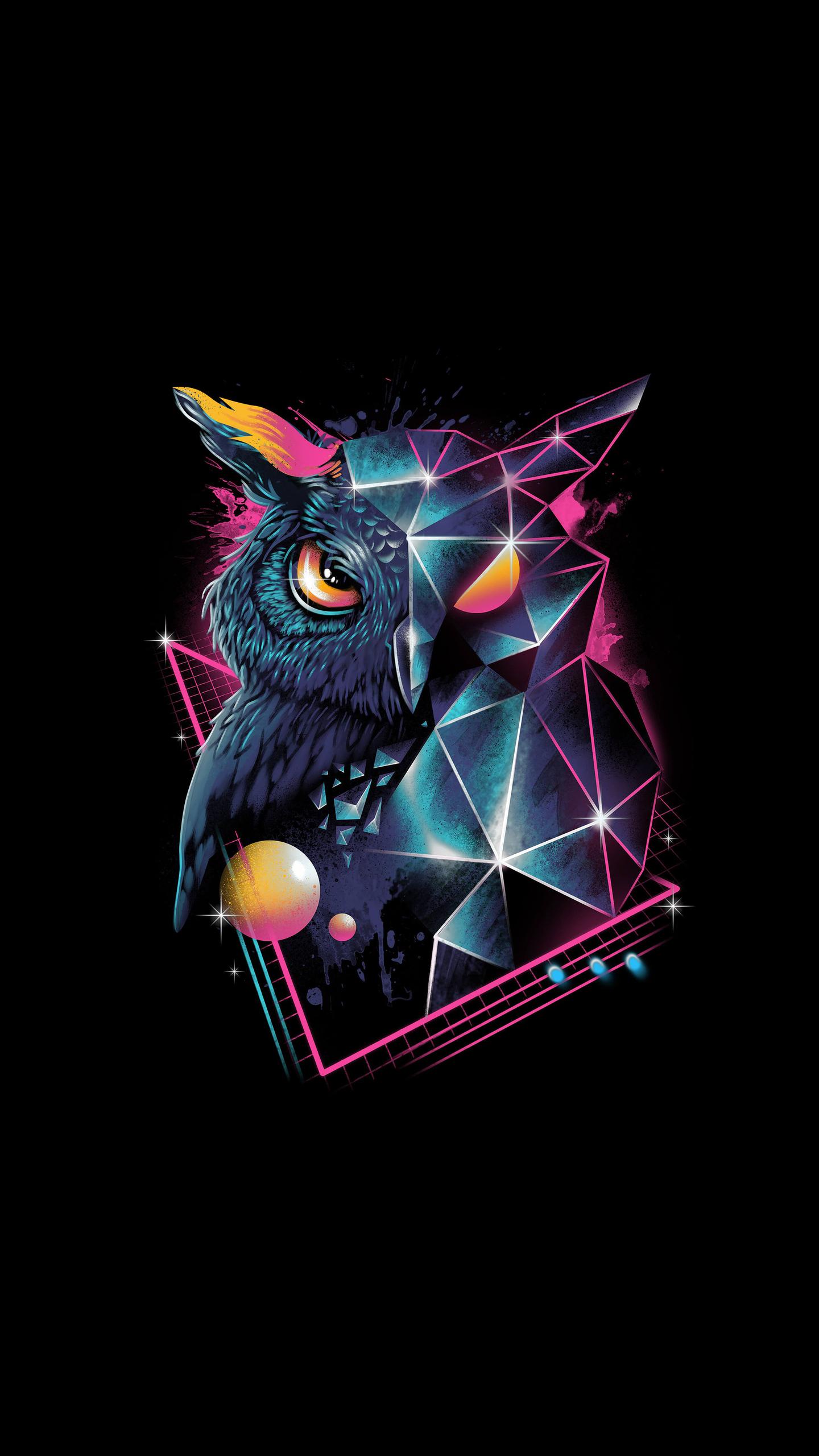 owl 80s design 4k kj