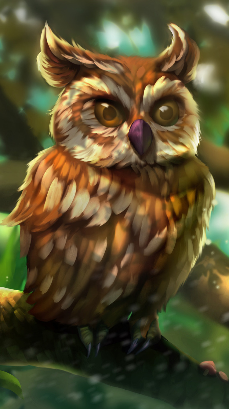 750x1334 Owl Colorful Art Iphone 6 Iphone 6s Iphone 7 Hd