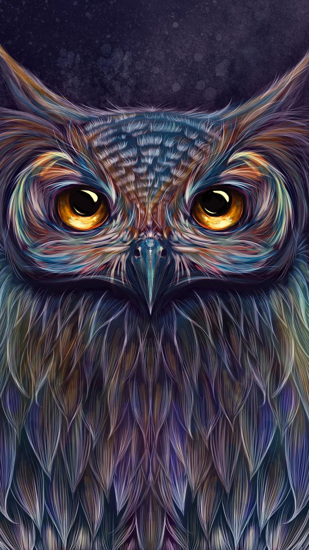 1080x1920 Owl Colorful Art 5k Iphone 7,6s,6 Plus, Pixel xl ...