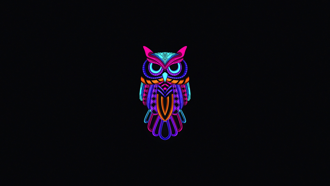 1366x768 Owl Minimal Dark 4k 1366x768 Resolution Hd 4k Wallpapers Images Backgrounds Photos And Pictures