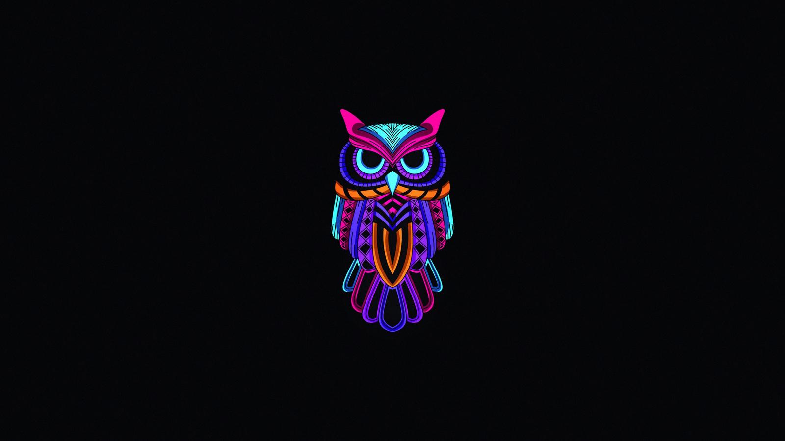 1600x900 Owl Minimal Dark 4k 1600x900 Resolution Hd 4k Wallpapers