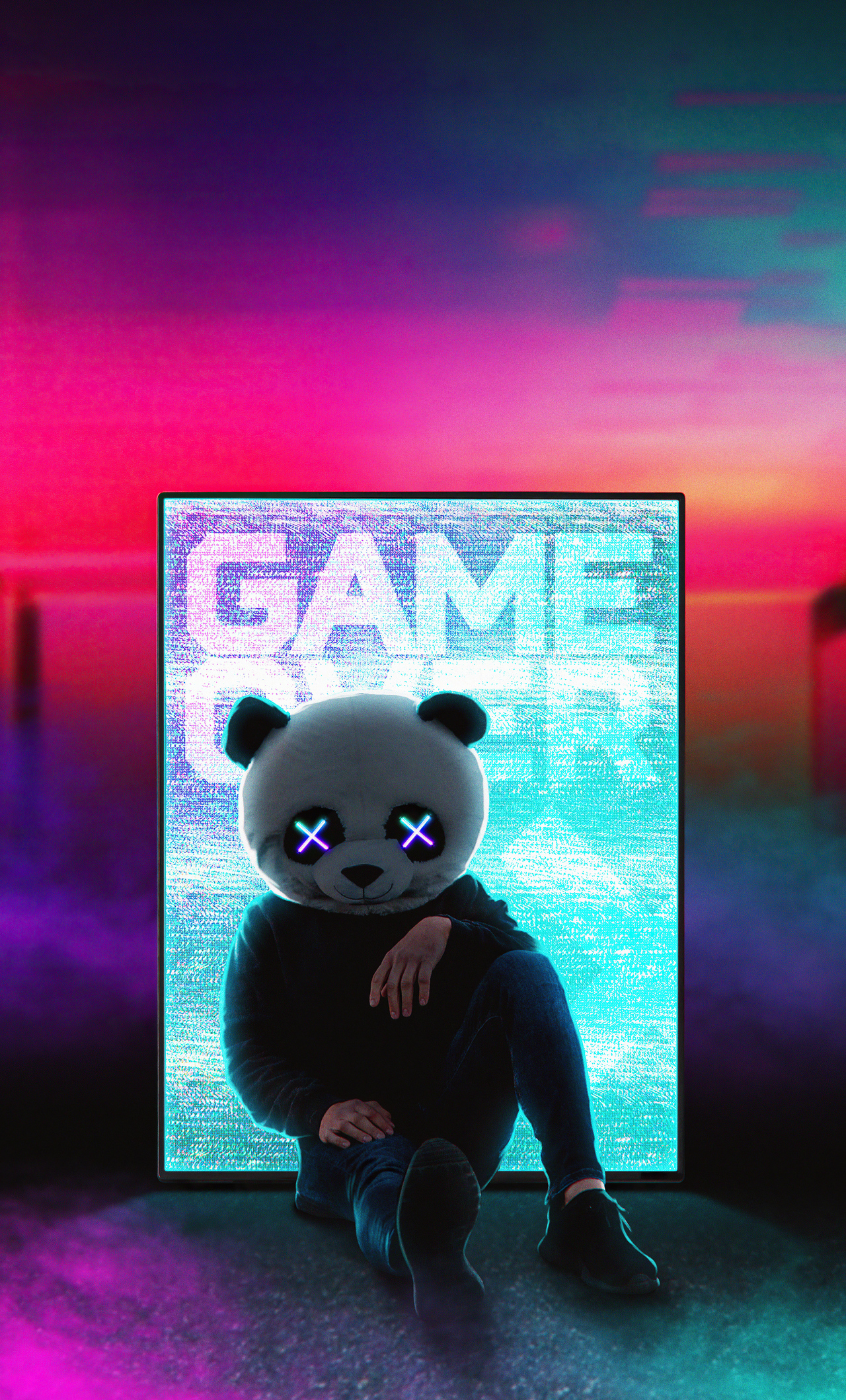 1280x2120 Panda With No Worries iPhone 6+ HD 4k Wallpapers ...