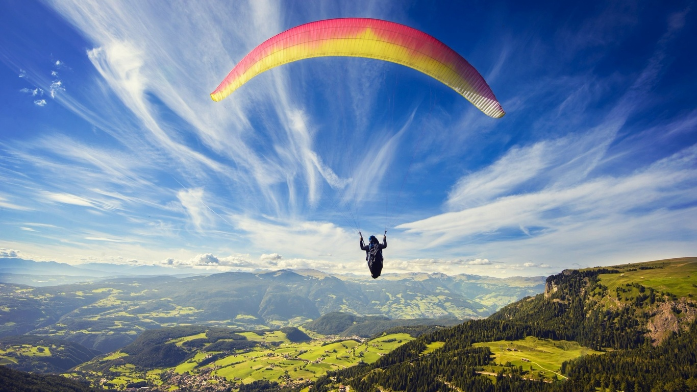 1366x768 Paragliding 1366x768 Resolution HD 4k Wallpapers ...