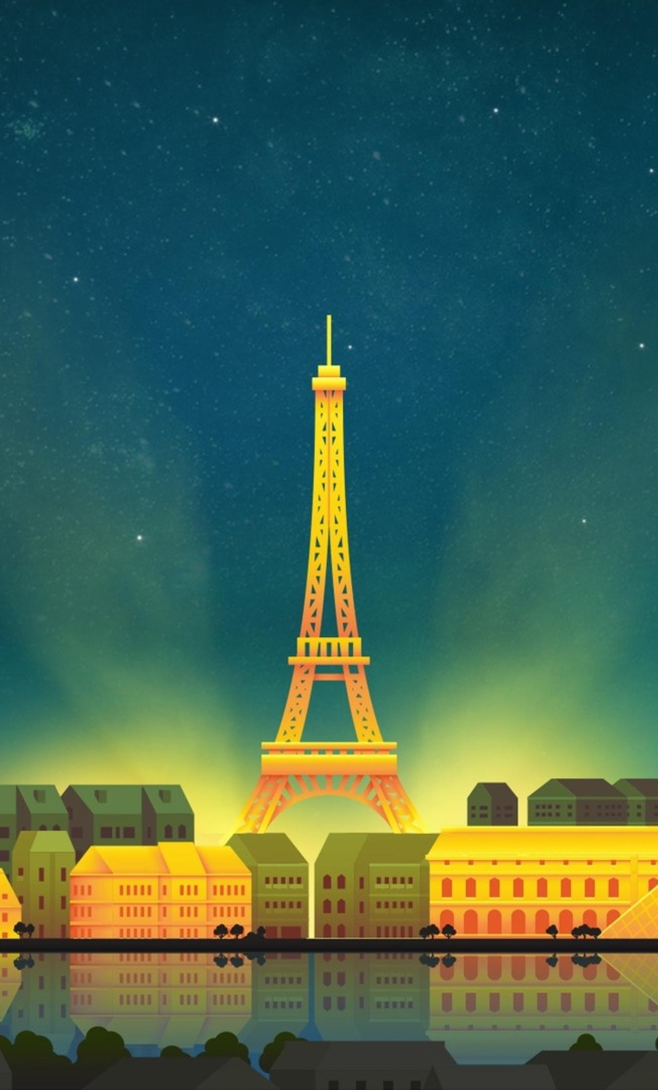 1280x2120 Paris Eiffel Tower Minimalist Iphone 6 Hd 4k Wallpapers