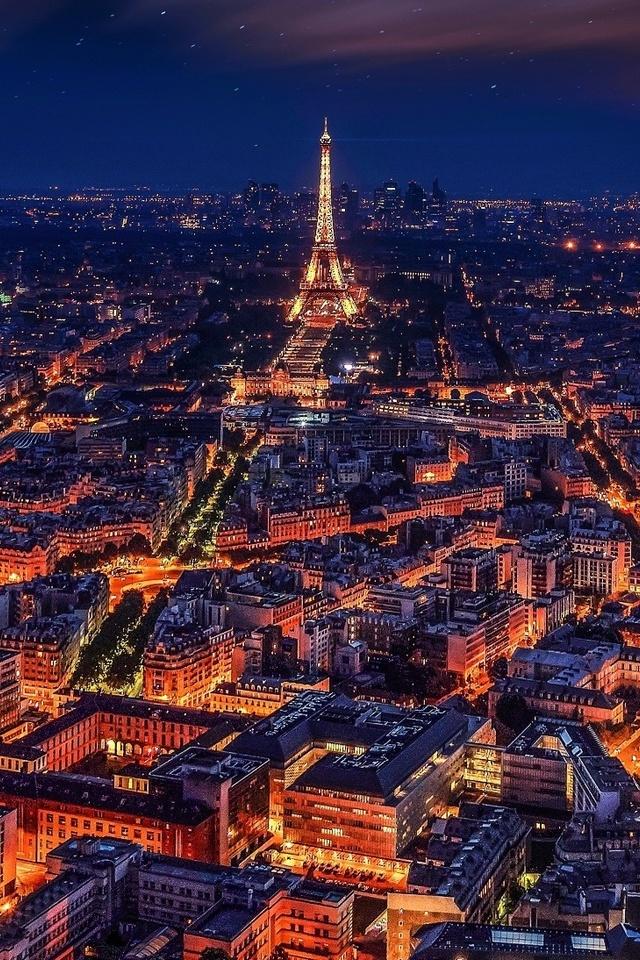 640x960 Paris France Eiffel Tower Night Iphone 4 Iphone 4s Hd 4k