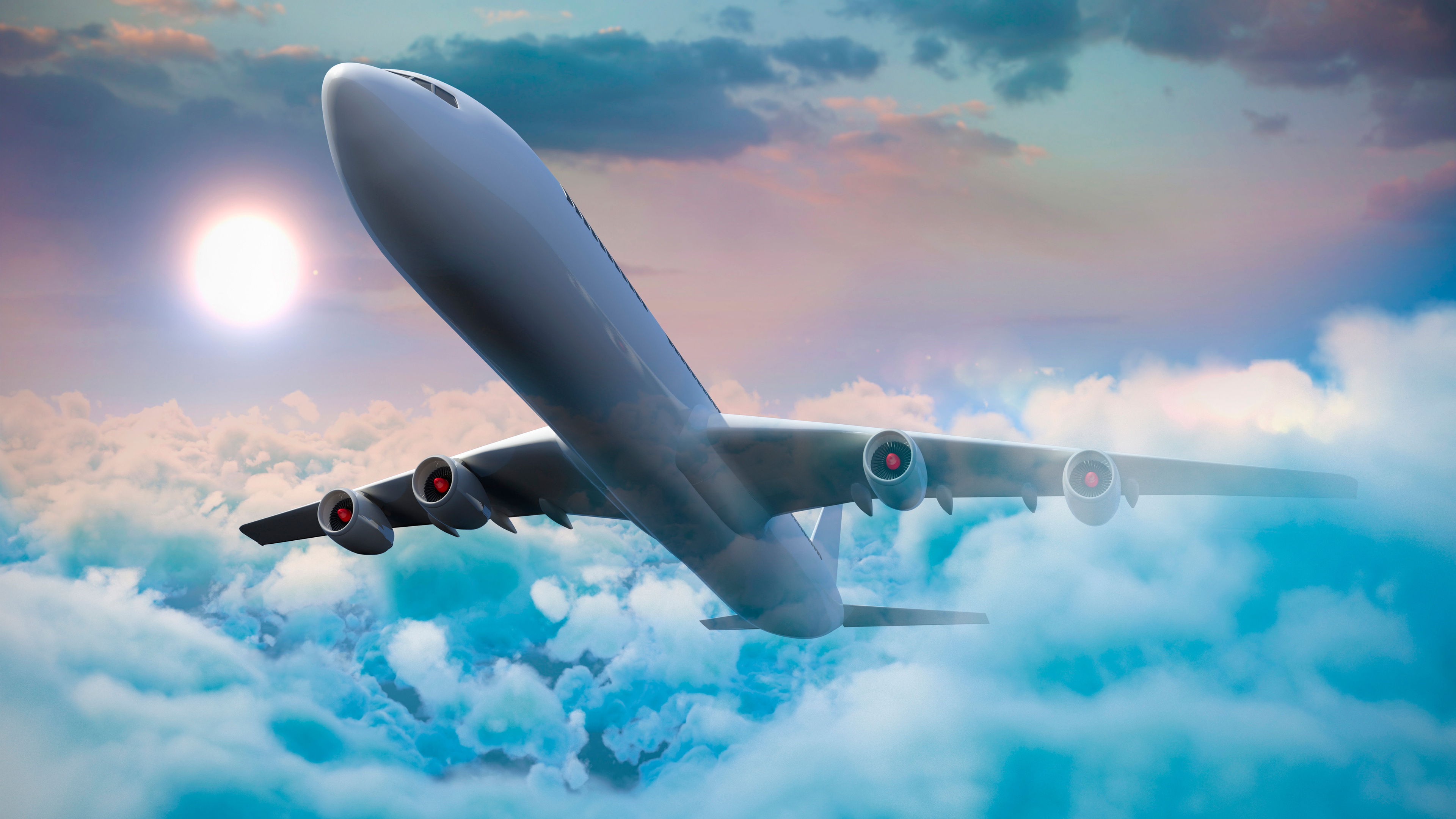 3840x2160 Passenger Airplanes Clouds 5k 4k Hd 4k Wallpapers Images Backgrounds Photos And Pictures