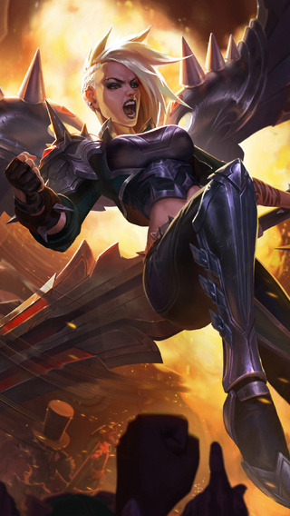 320x568 Pentakill Kayle Artwork League Of Legends 320x568 Resolution