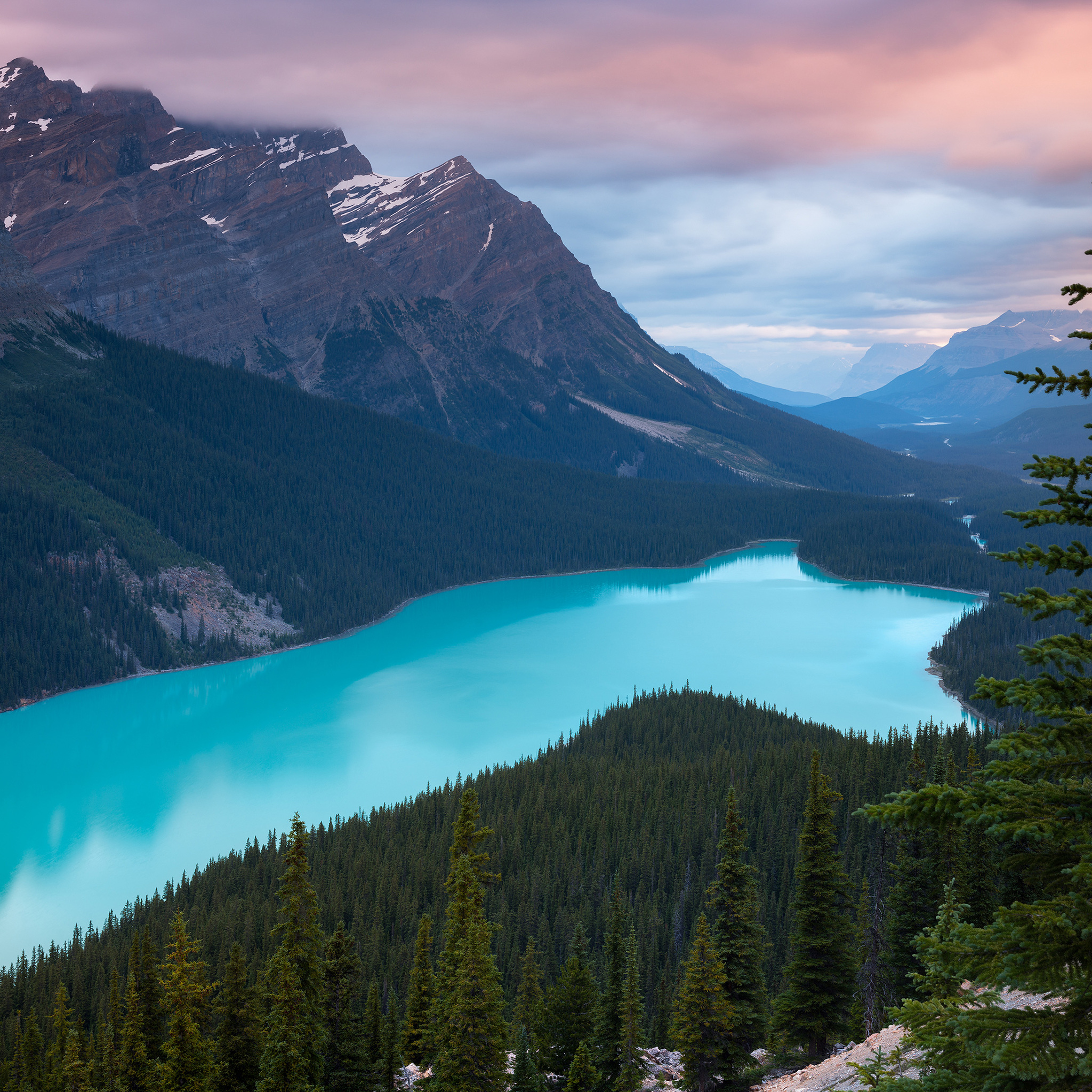 Smartphone Wallpaper 4k Nature: 2048x2048 Peyto Lake Canada Mountains 4k Ipad Air HD 4k