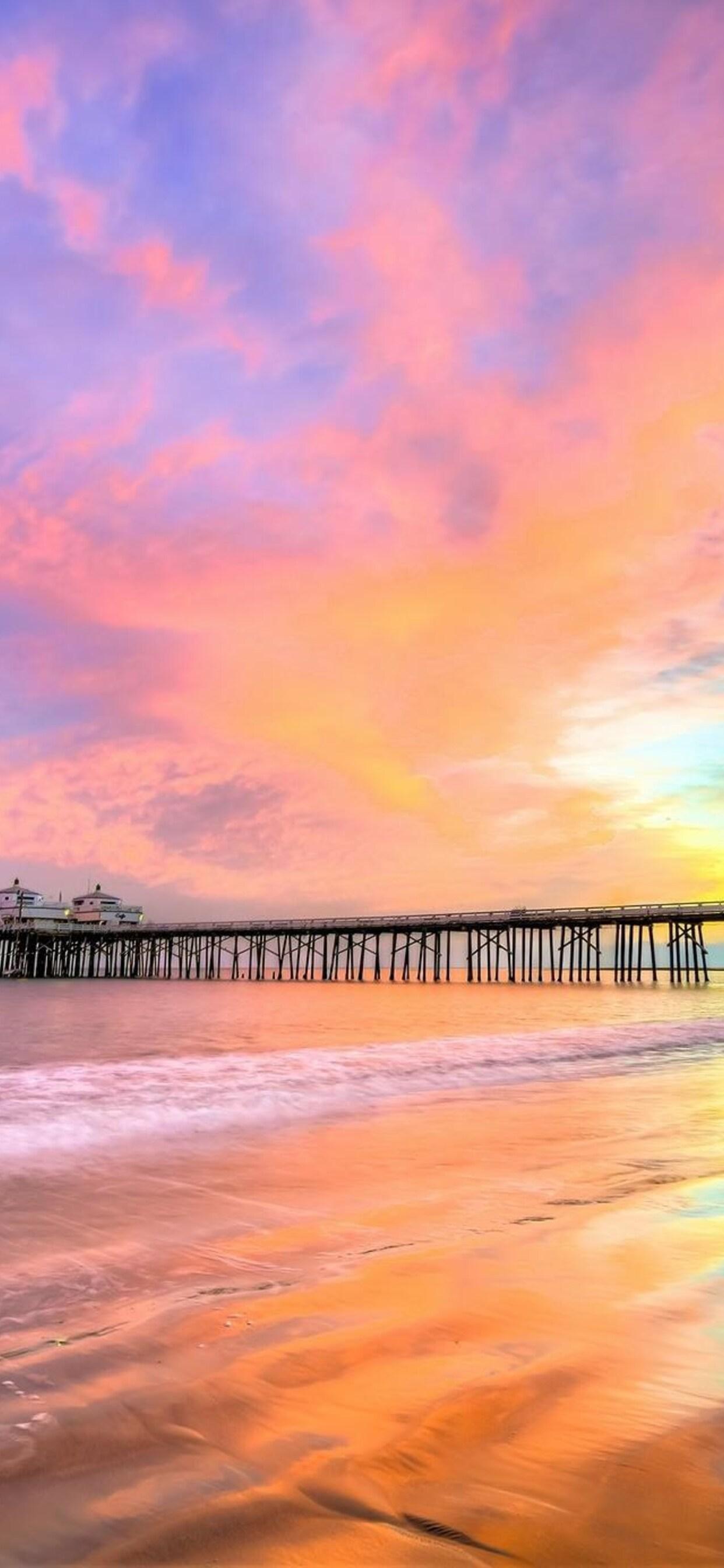 1242x2688 Pier Beach California Iphone Xs Max Hd 4k