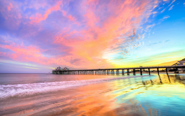 2880x1800 Pier Beach California Macbook Pro Retina Hd 4k Wallpapers