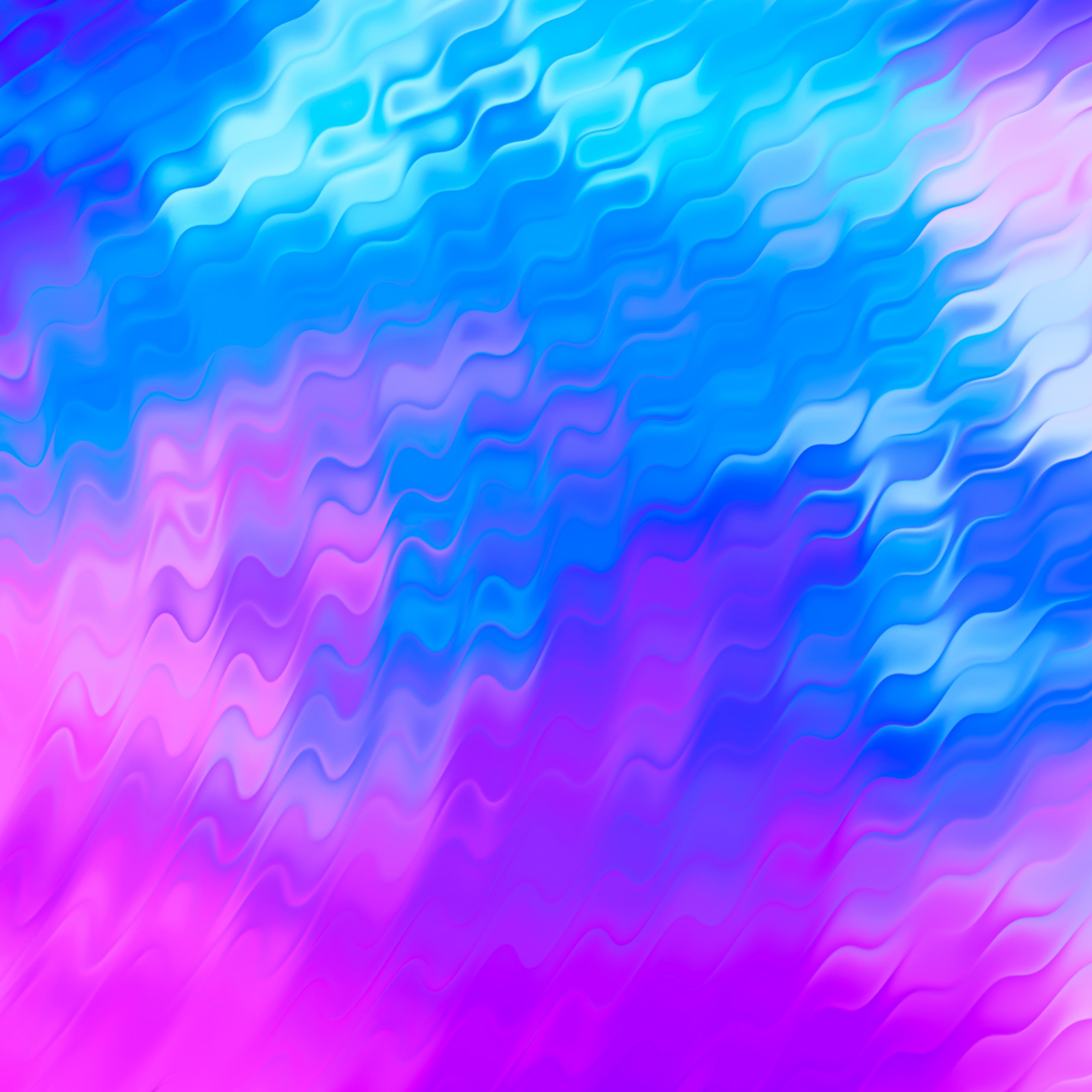 2932x2932 Pink Blue Shapes Abstract 4k Ipad Pro Retina