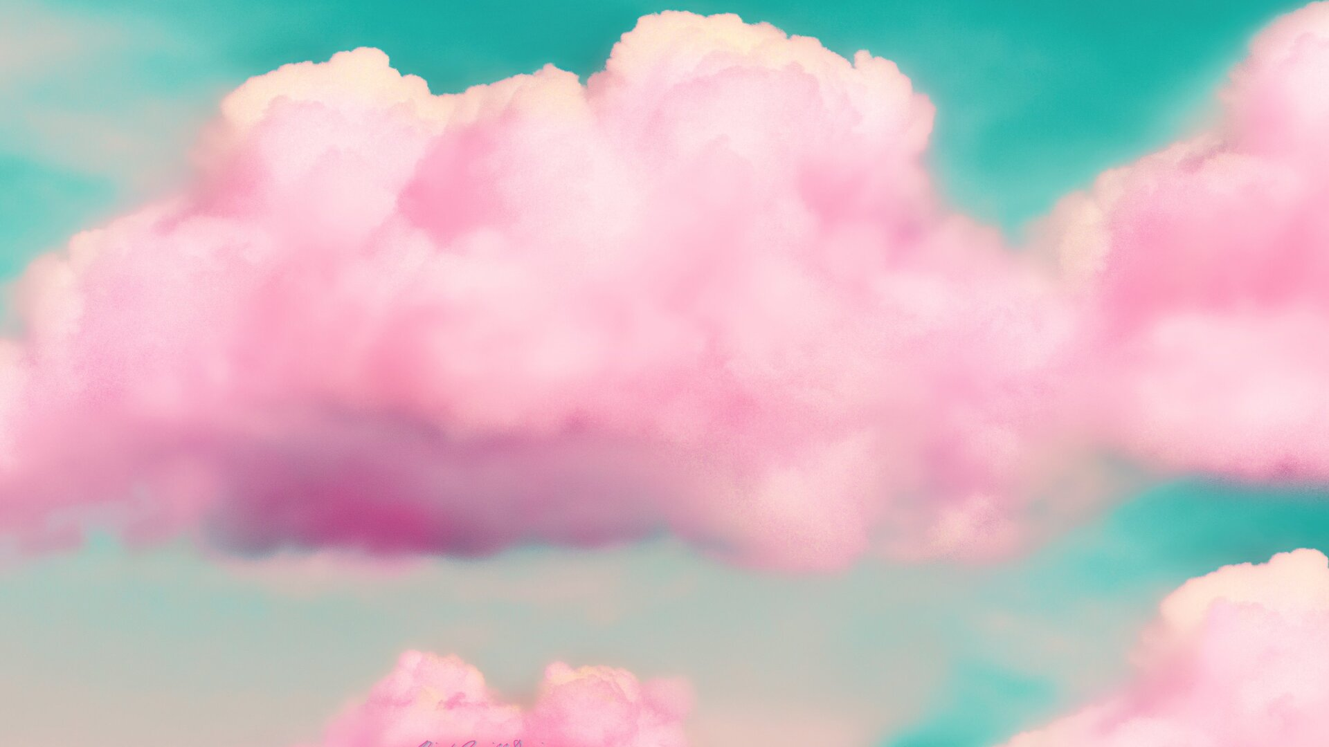1920x1080 Pink Clouds 3d Laptop Full Hd 1080p Hd 4k