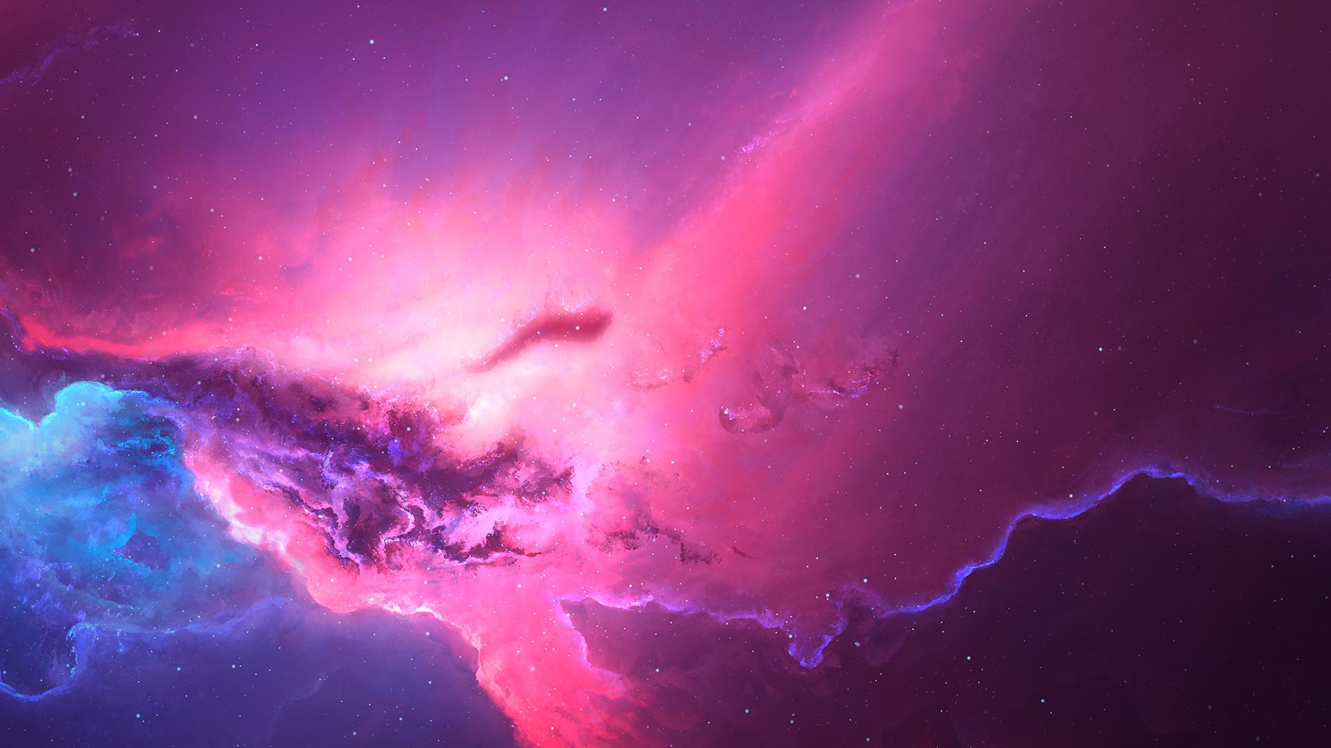 1920x1080 Pink Red Nebula Space Cosmos 4k Laptop Full Hd 1080p Hd