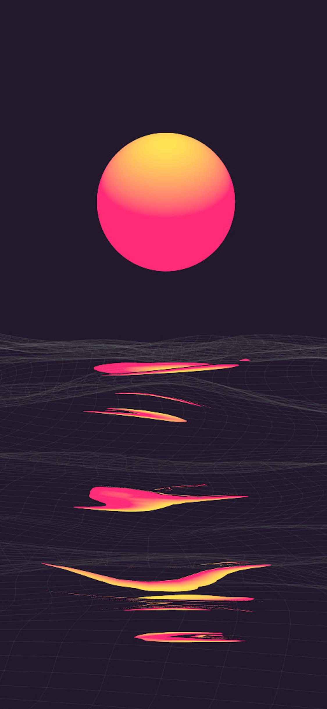pink retrowave sunset e1