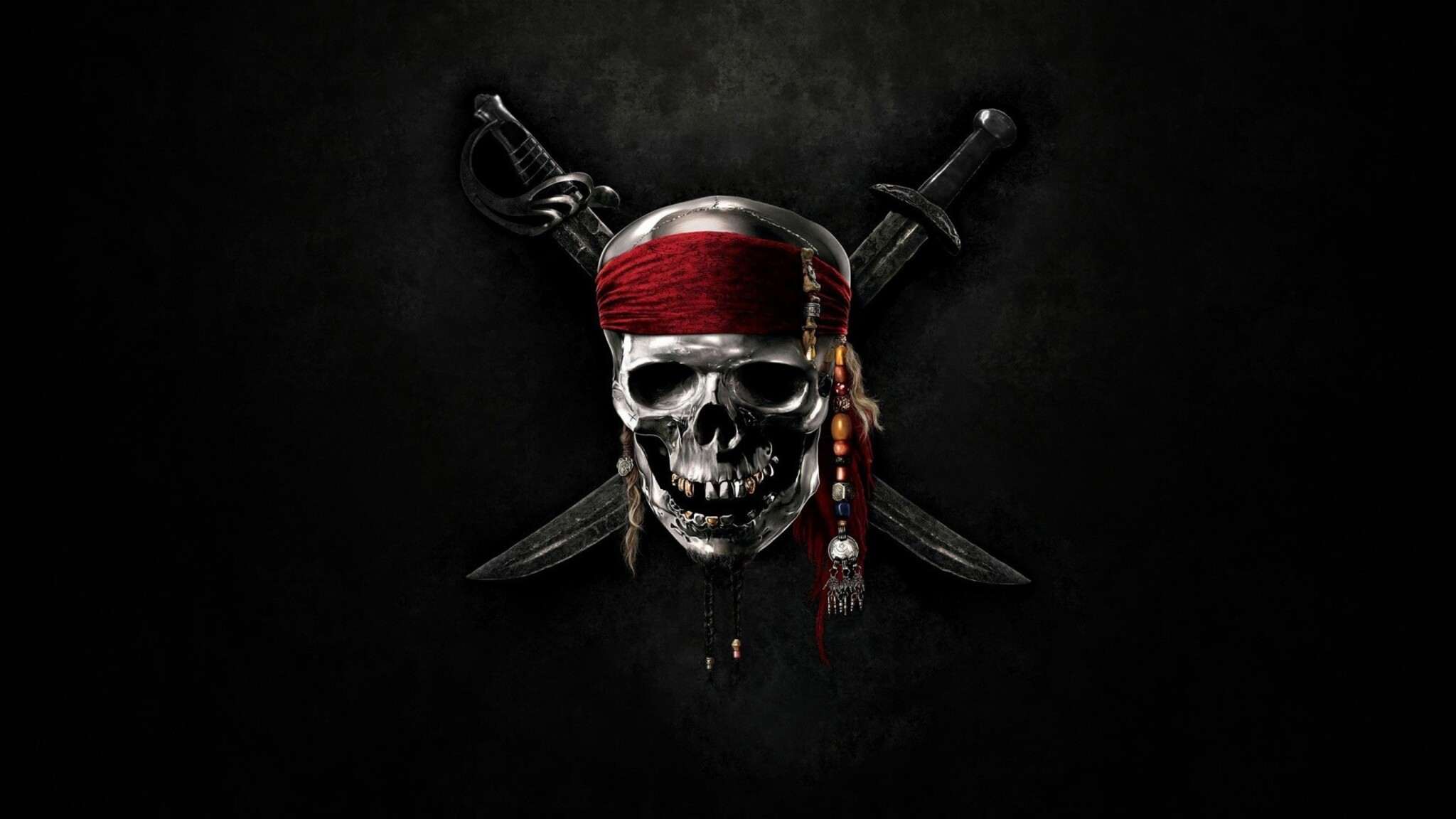 2048x1152 Pirates Of The Caribbean Skull 2048x1152