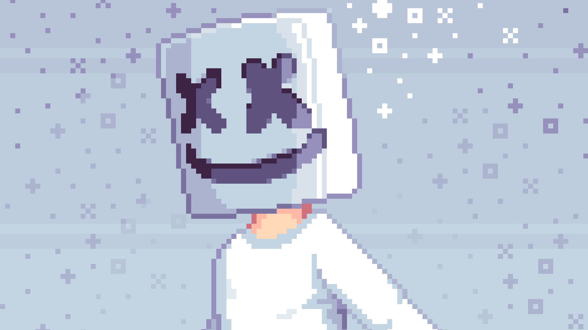 2048x1152 Pixel Marshmello Art 2048x1152 Resolution Hd 4k