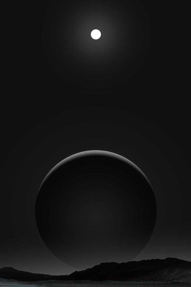640x960 Planet Dark Black Moon 4k Iphone 4 Iphone 4s Hd 4k