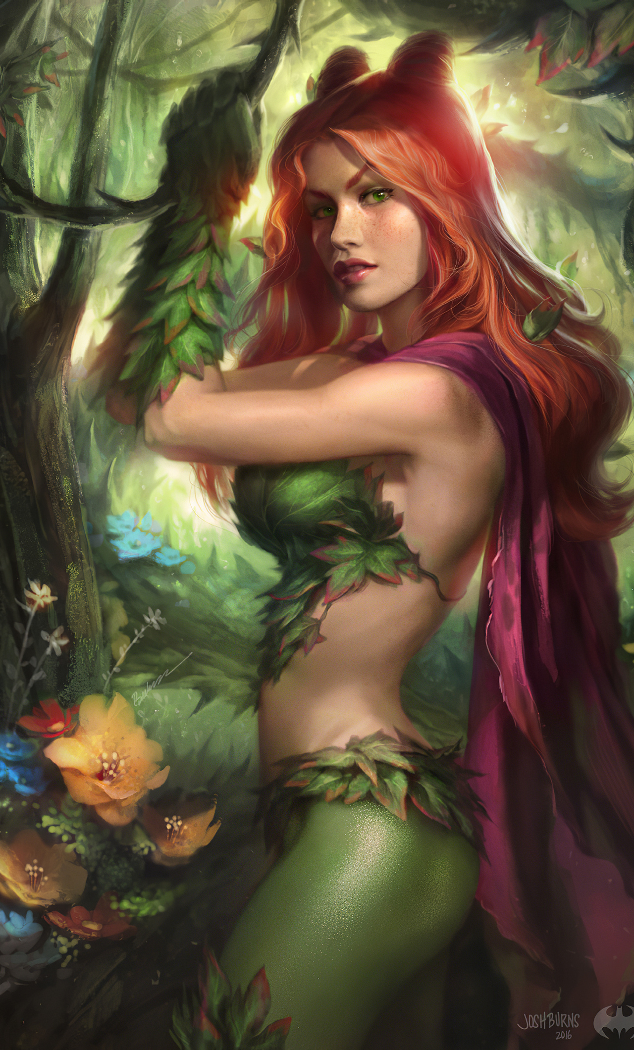 1280x2120 poison ivy artwork iphone 6 hd 4k wallpapers images backgrounds photos and pictures 1280x2120 poison ivy artwork iphone 6