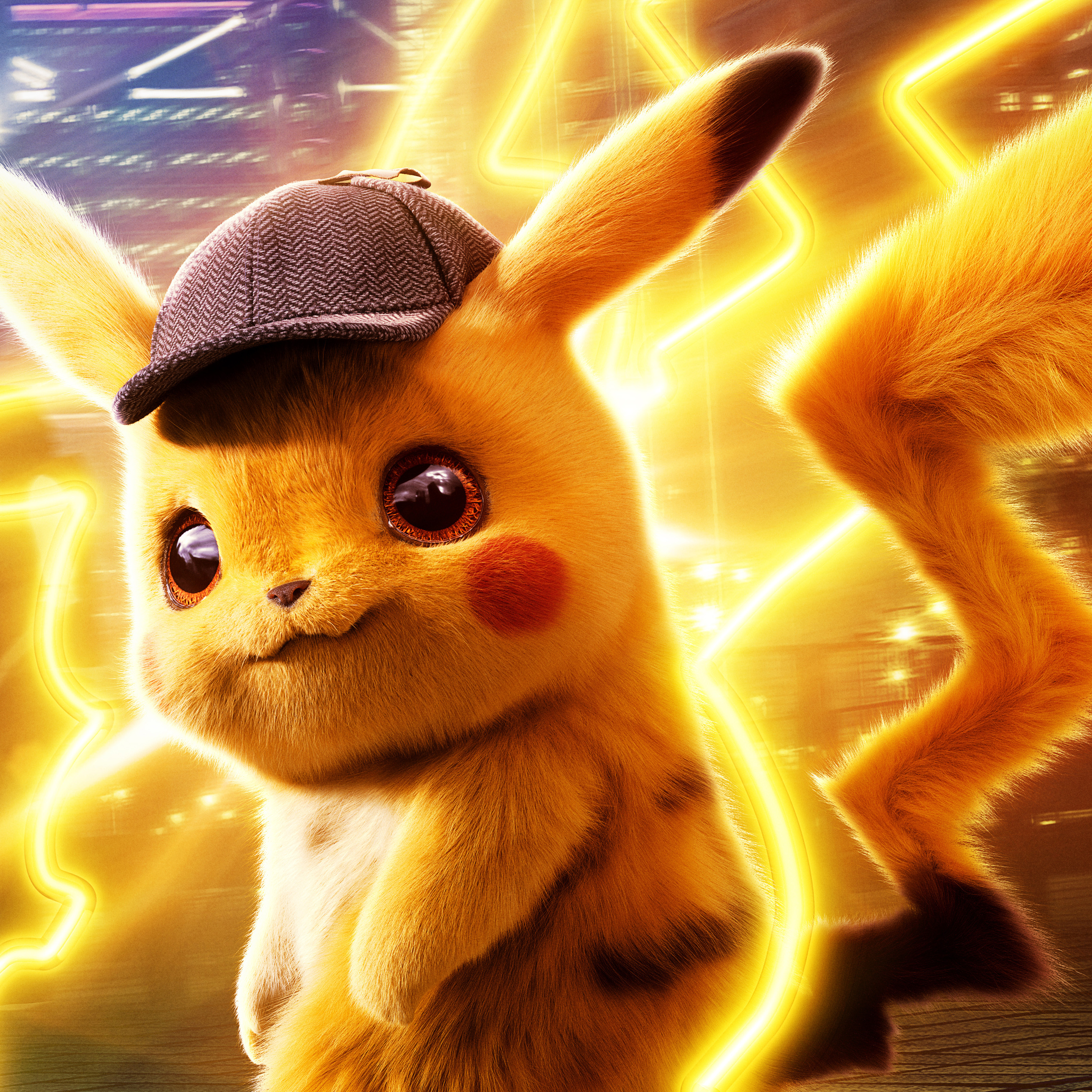 2932x2932 Pokemon Detective Pikachu 5k Ipad Pro Retina