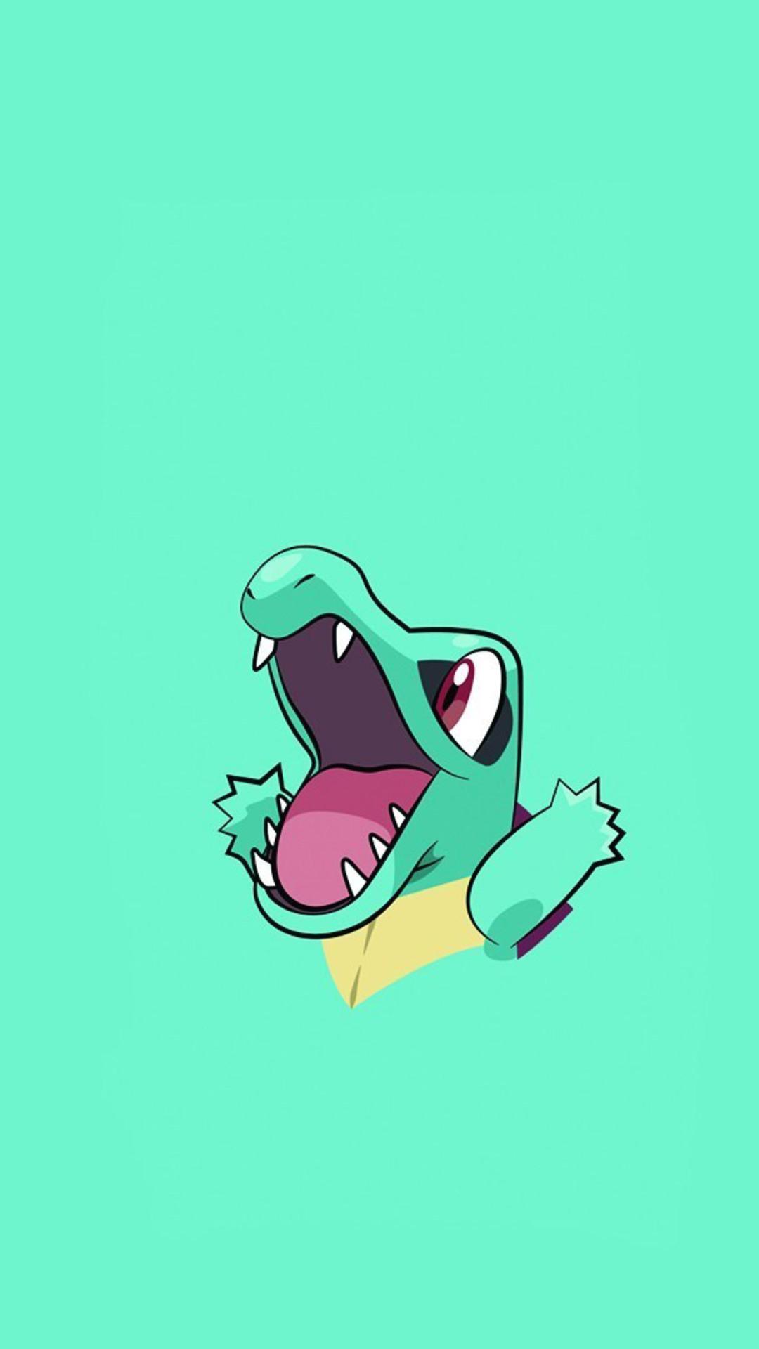 1080x1920 Pokemon Totodile Minimalism Iphone 7 6s 6 Plus Pixel Xl