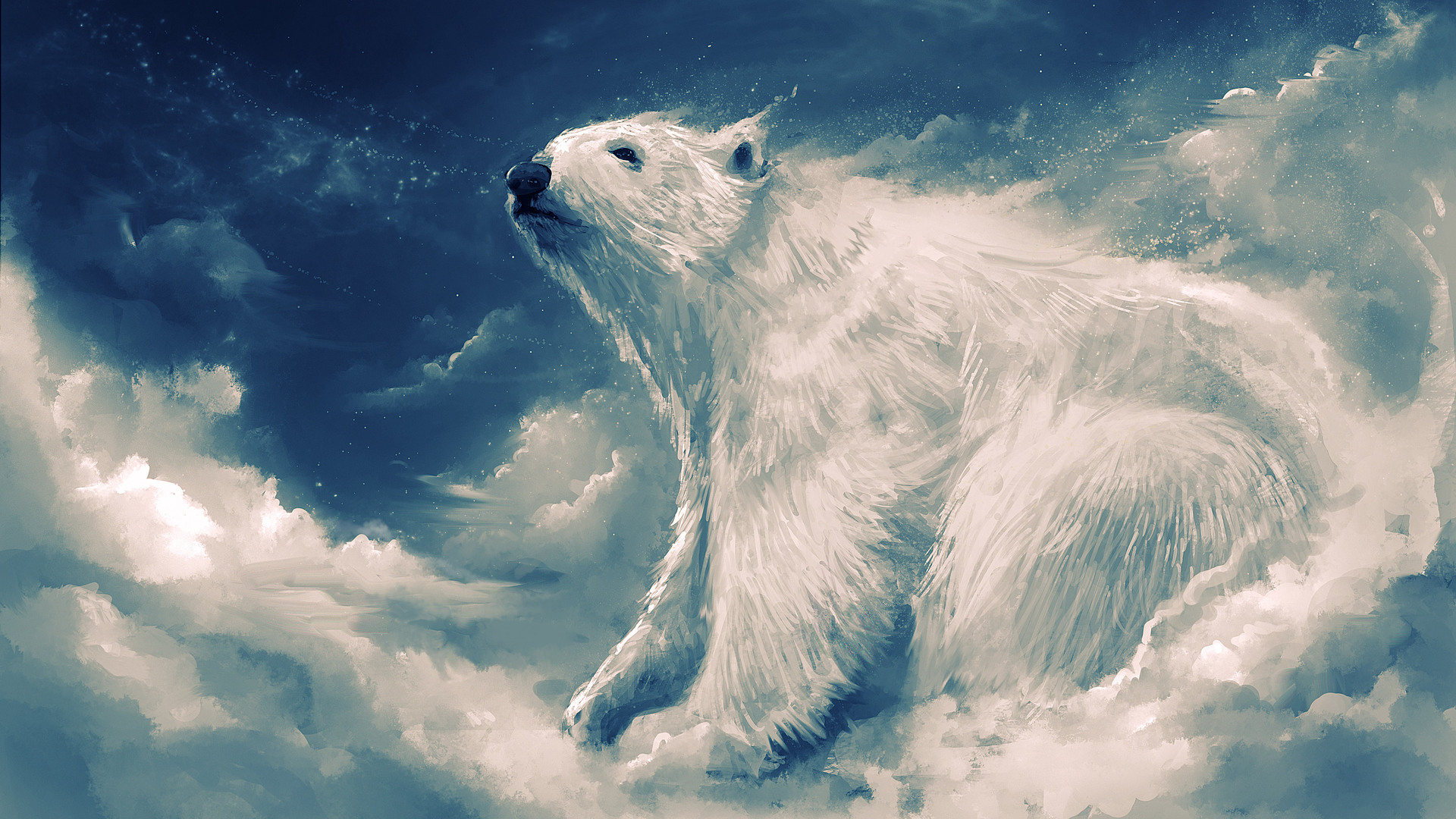 1920x1080 polar bear artwork 4k laptop full hd 1080p hd 4k