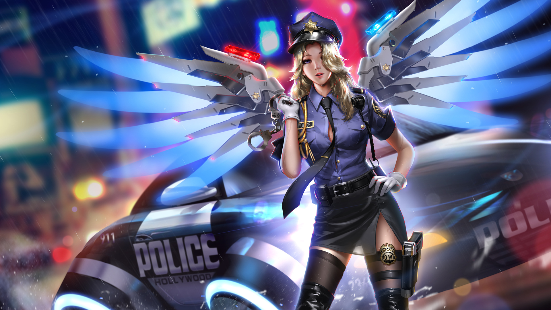 1920X1080 Police Girl Mercy Overwatch 2018 Hd Laptop Full Hd 1080P Hd 4K Wallpapers -6557