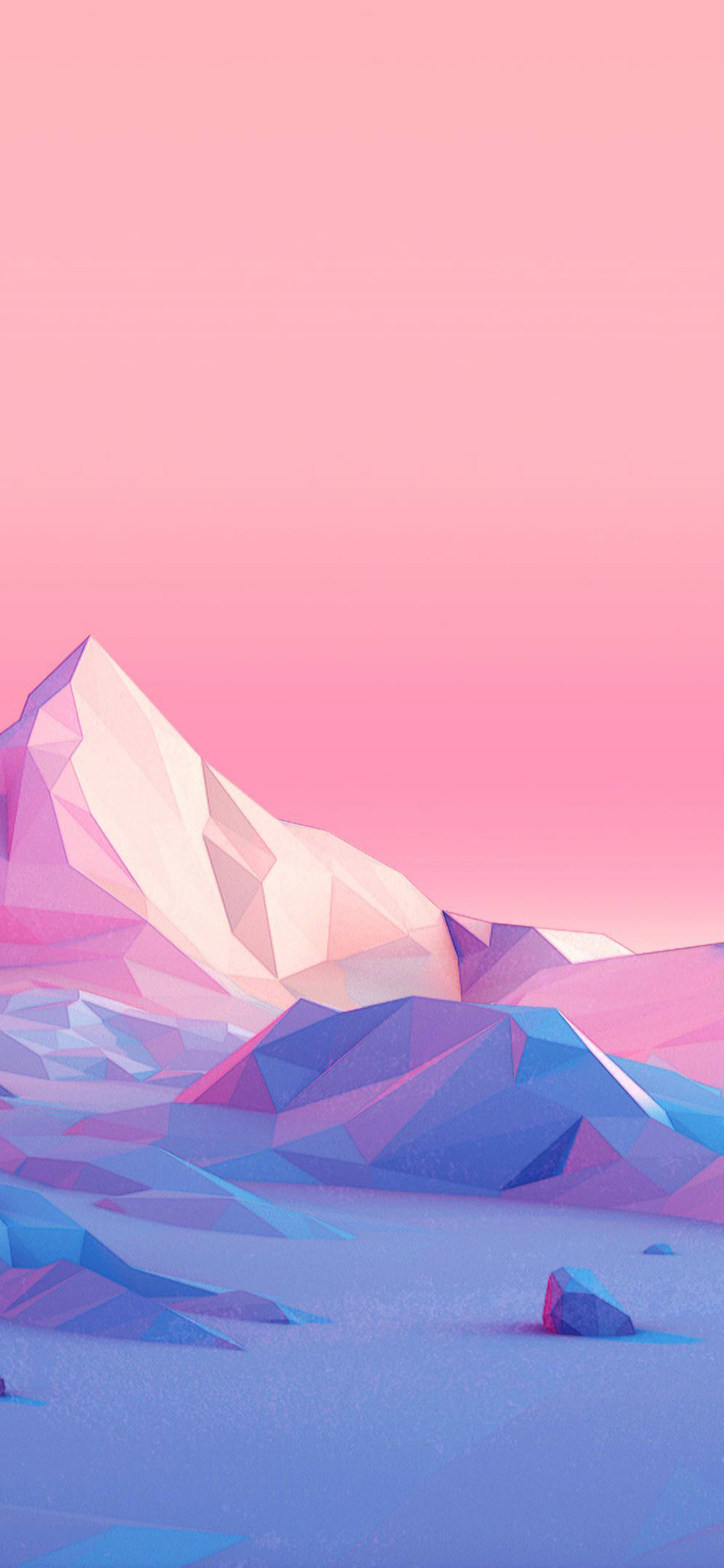 1125x2436 Polygon Mountains Minimalist Iphone Xs Iphone 10 Iphone X
