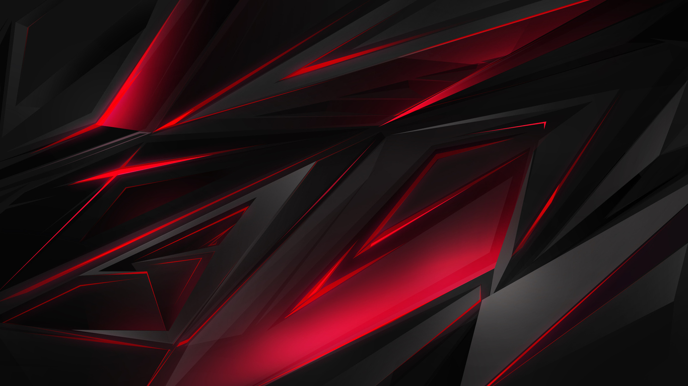 1366x768 Polygonal Abstract Red Dark Background 1366x768