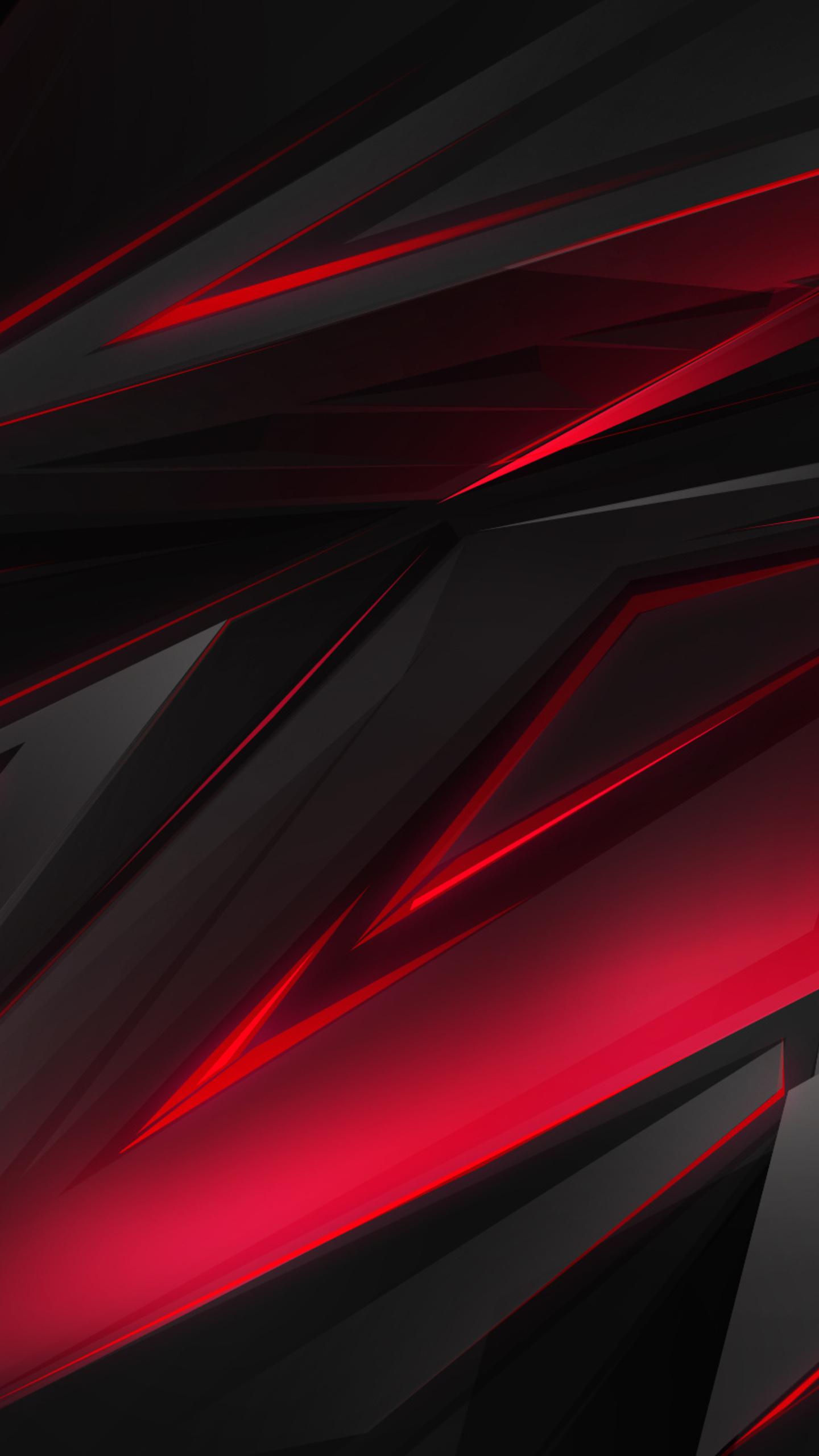 1440x2560 Polygonal Abstract Red Dark Background Samsung