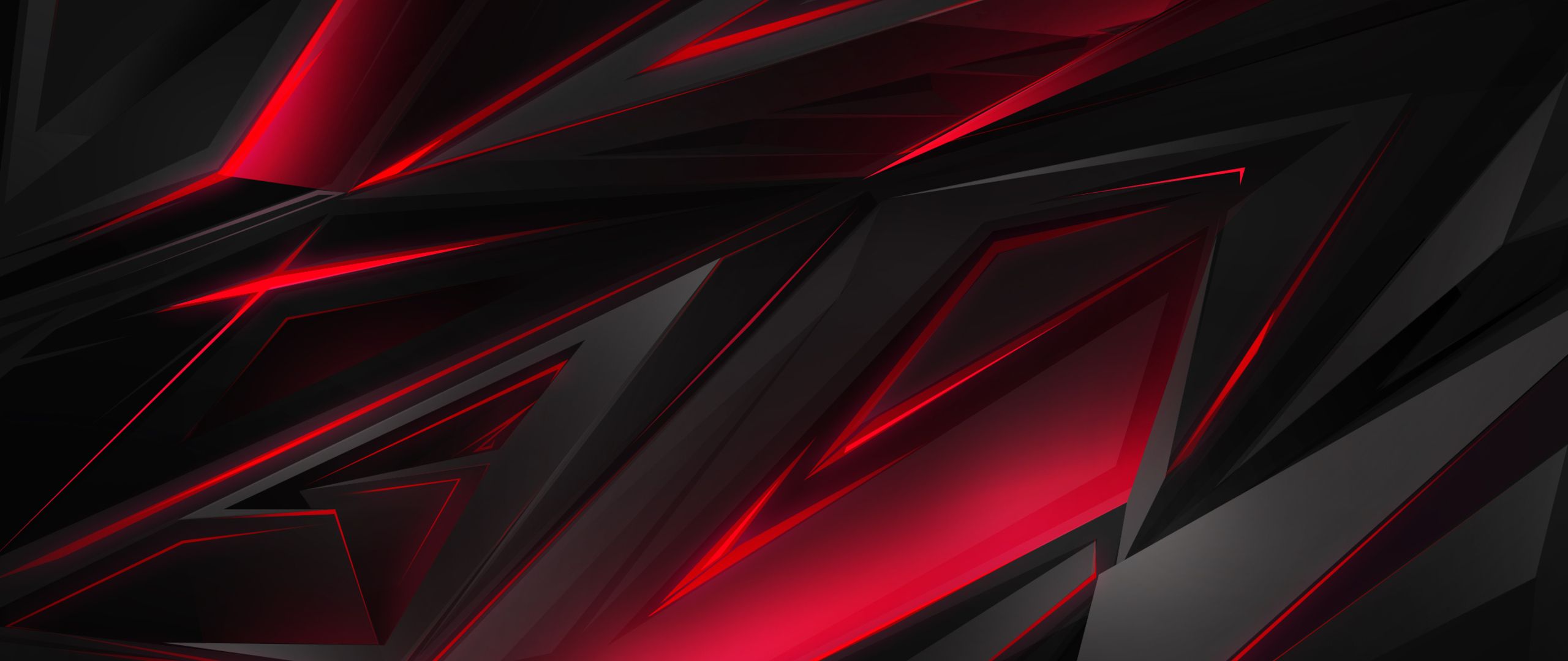 2560x1080 Polygonal Abstract Red Dark Background 2560x1080